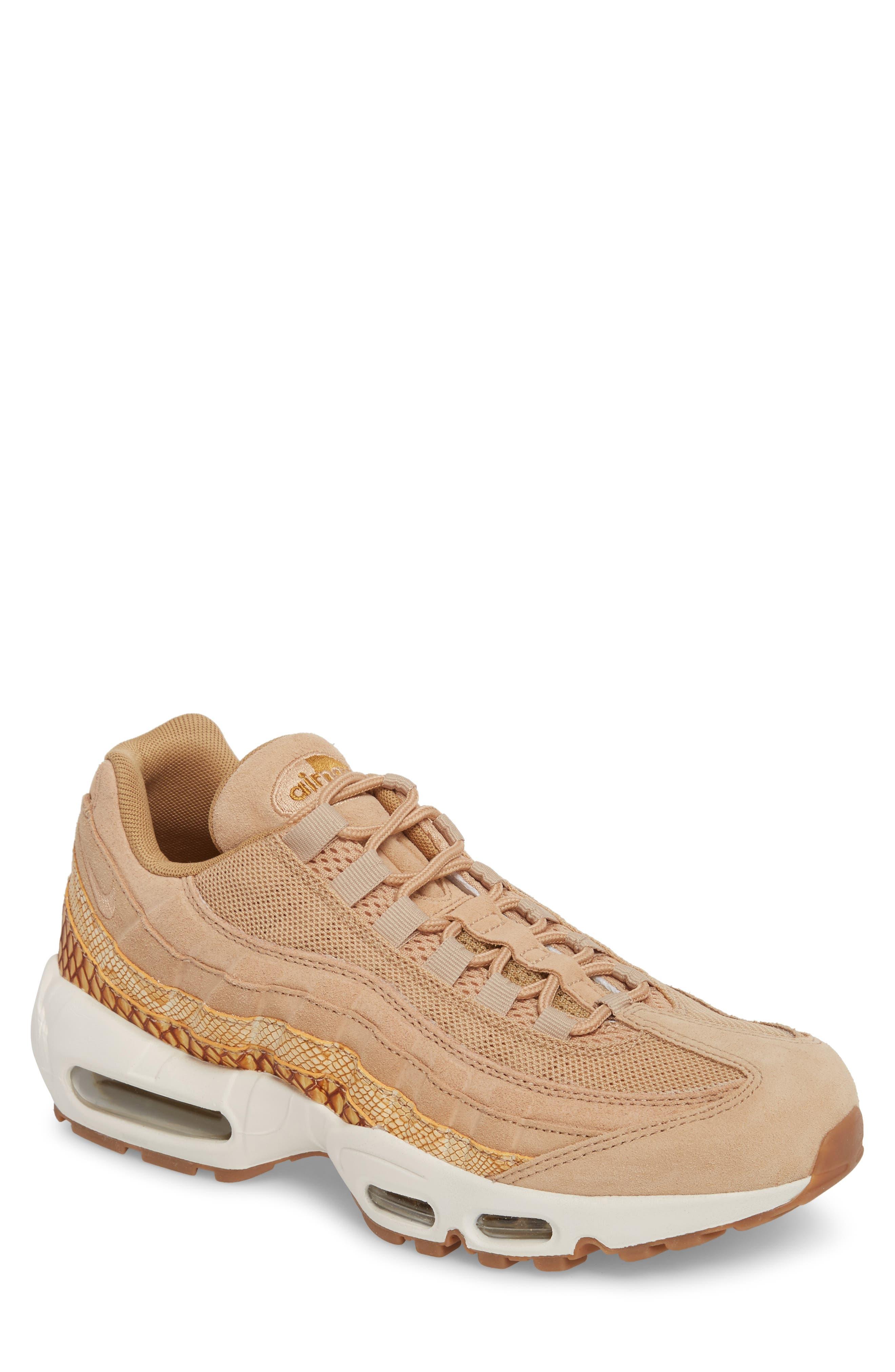 Air Max 95 Premium SE Sneaker,                             Main thumbnail 1, color,                             TAN/ TAN/ ELEMENTAL GOLD