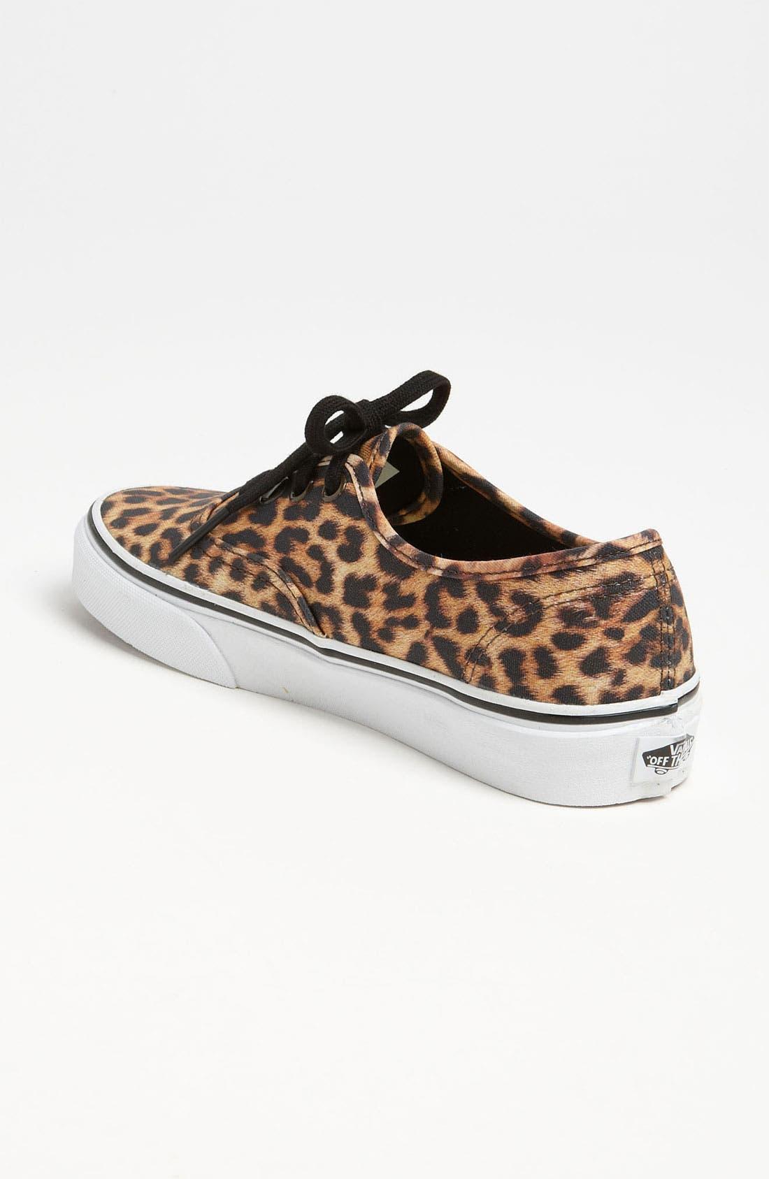 'Authentic - Leopard' Sneaker,                             Alternate thumbnail 4, color,                             200