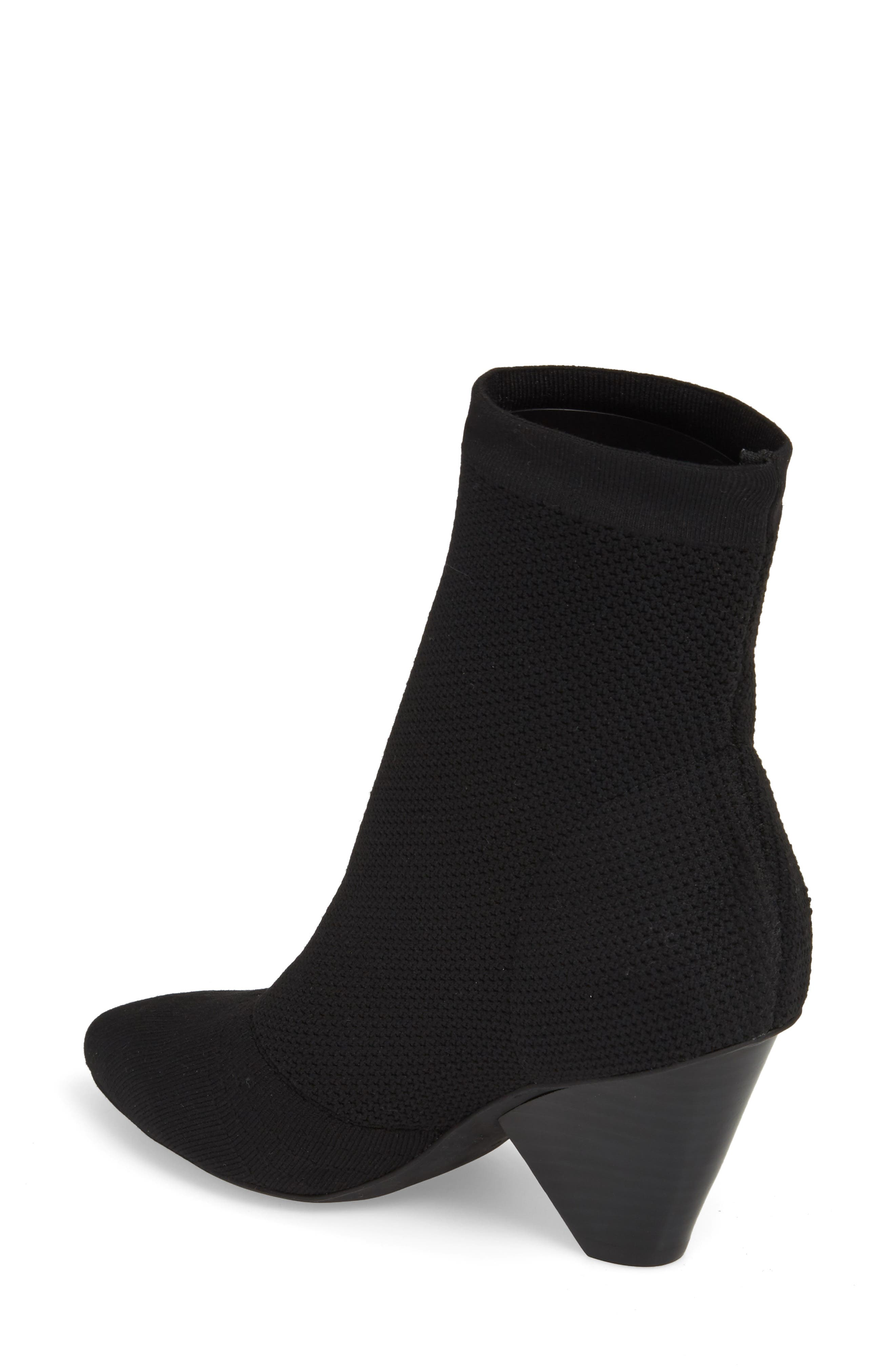 Acadia 2 Sock Bootie,                             Alternate thumbnail 2, color,                             BLACK WOVEN