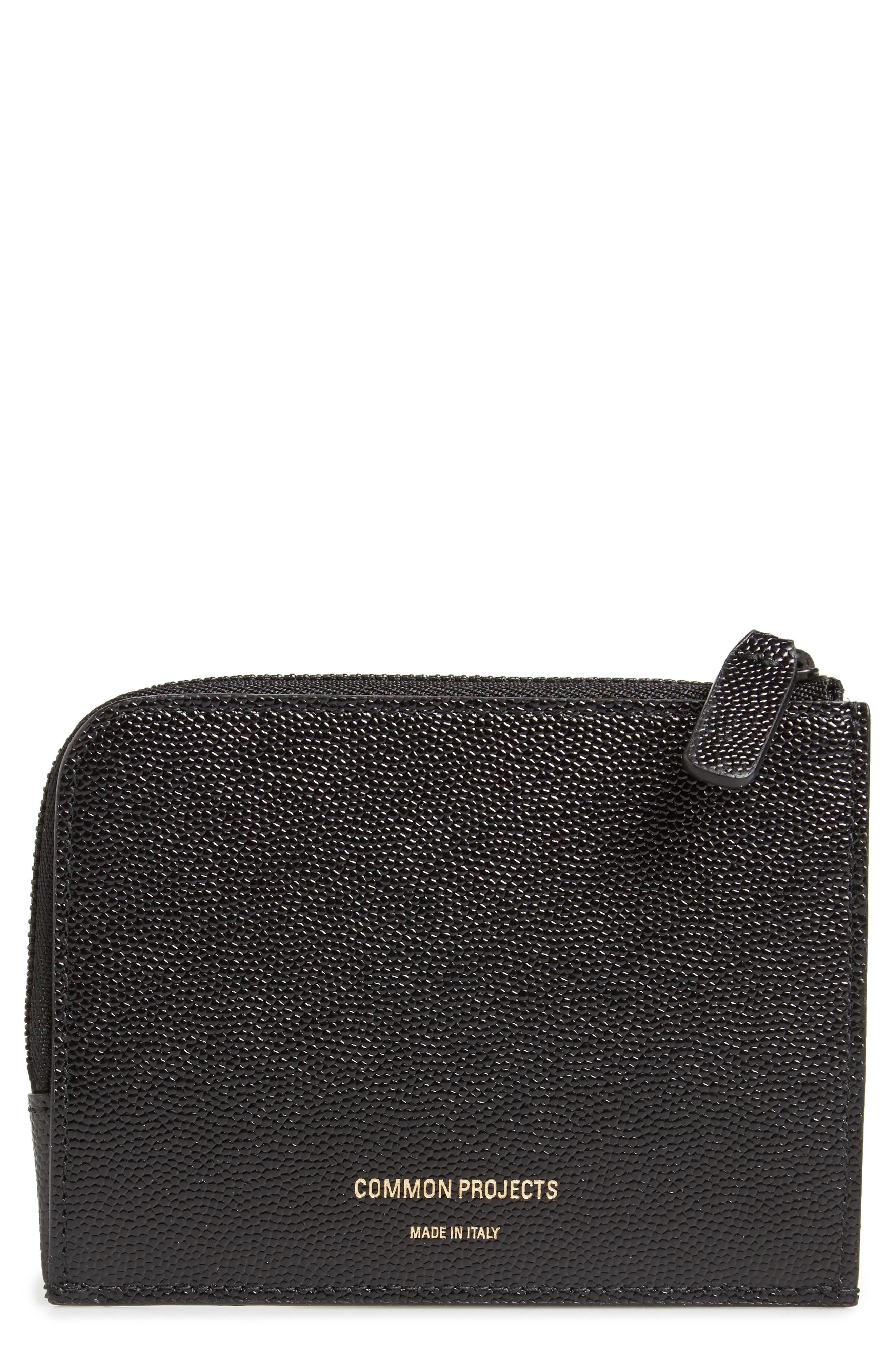 Pebble Leather Zip Wallet,                         Main,                         color, 001