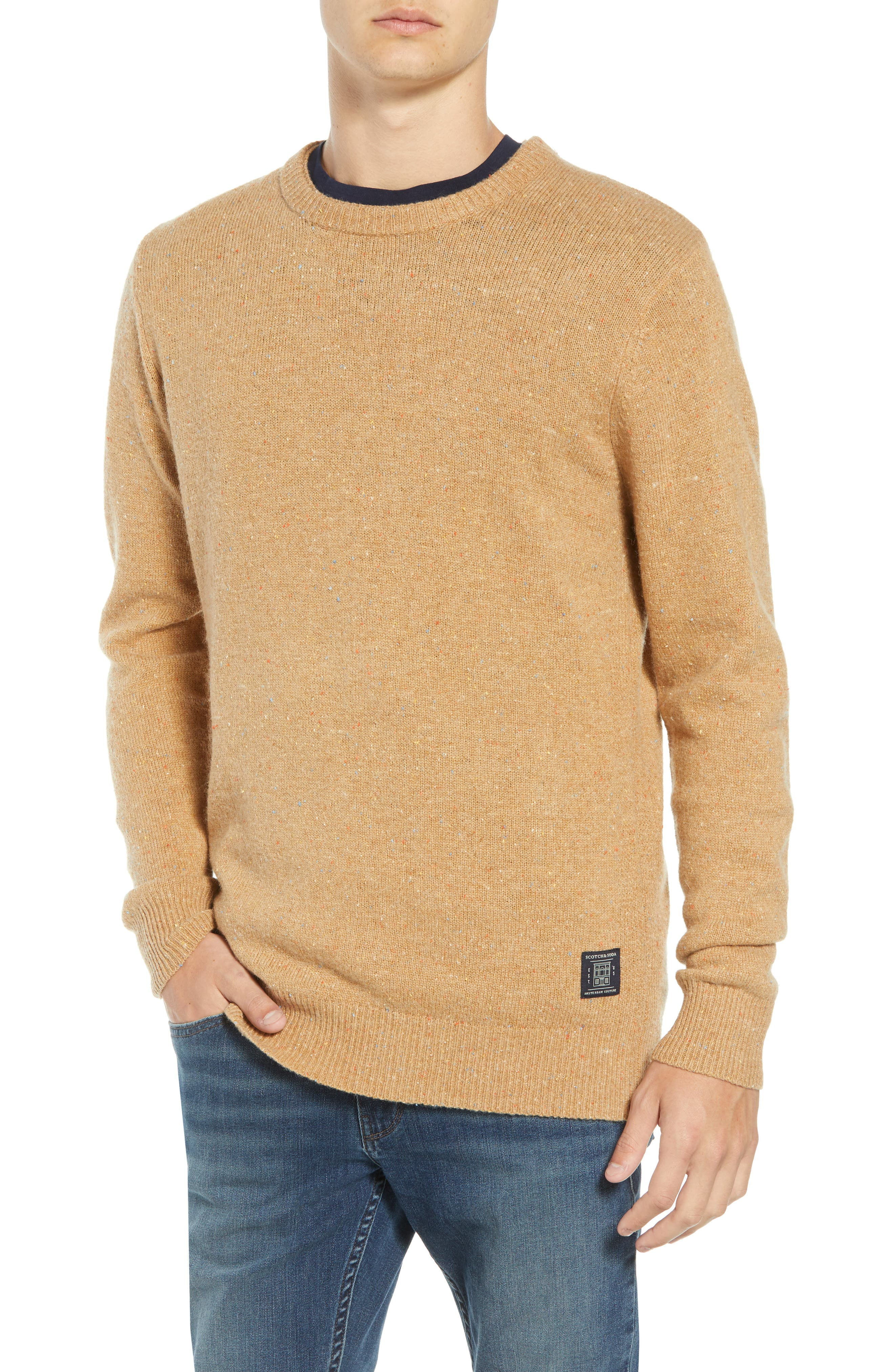 SCOTCH & SODA Nepped Wool Blend Sweater, Main, color, COMBO E