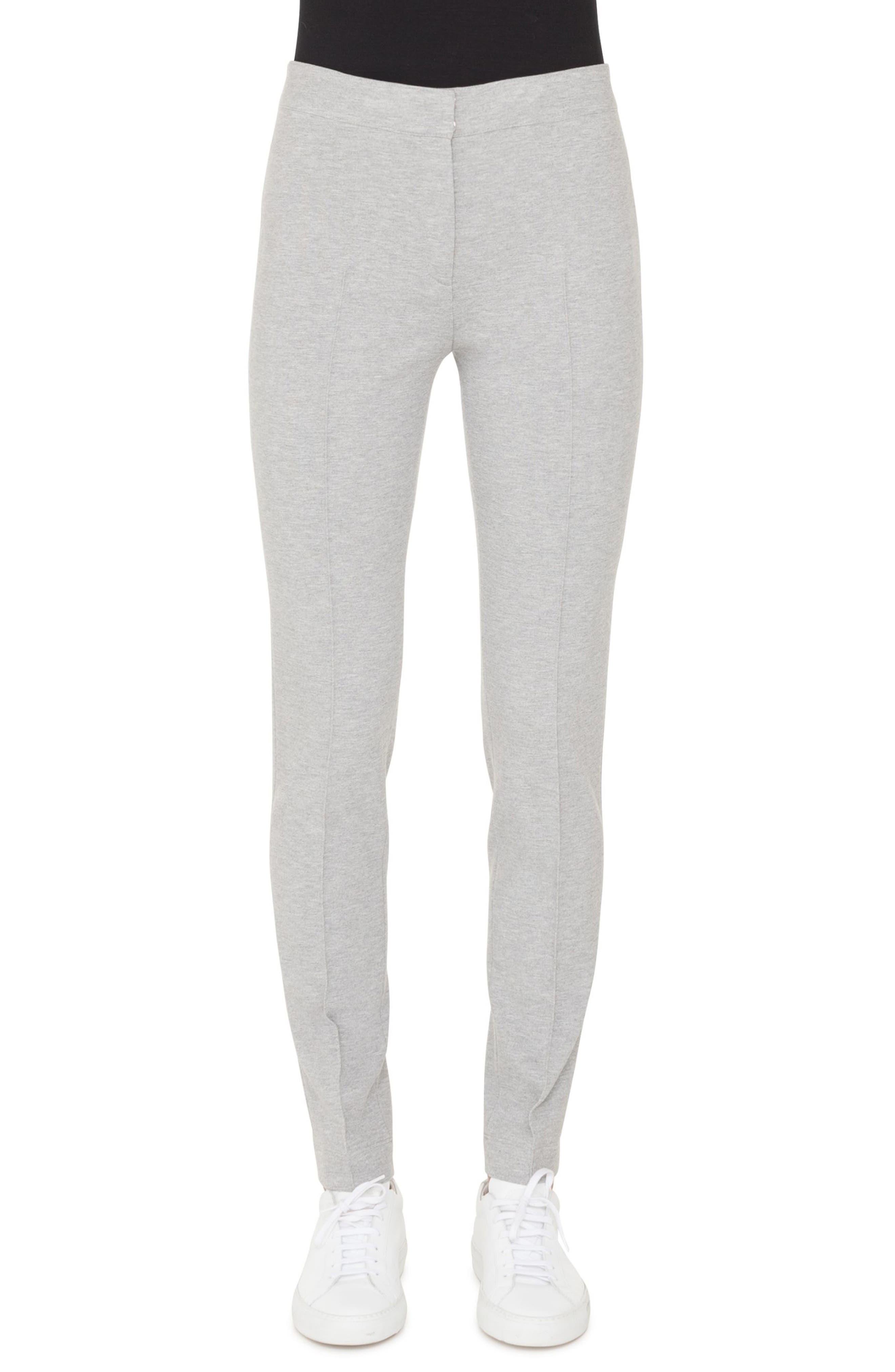 Mara Stretch Jersey Pants,                             Main thumbnail 1, color,                             SILVER