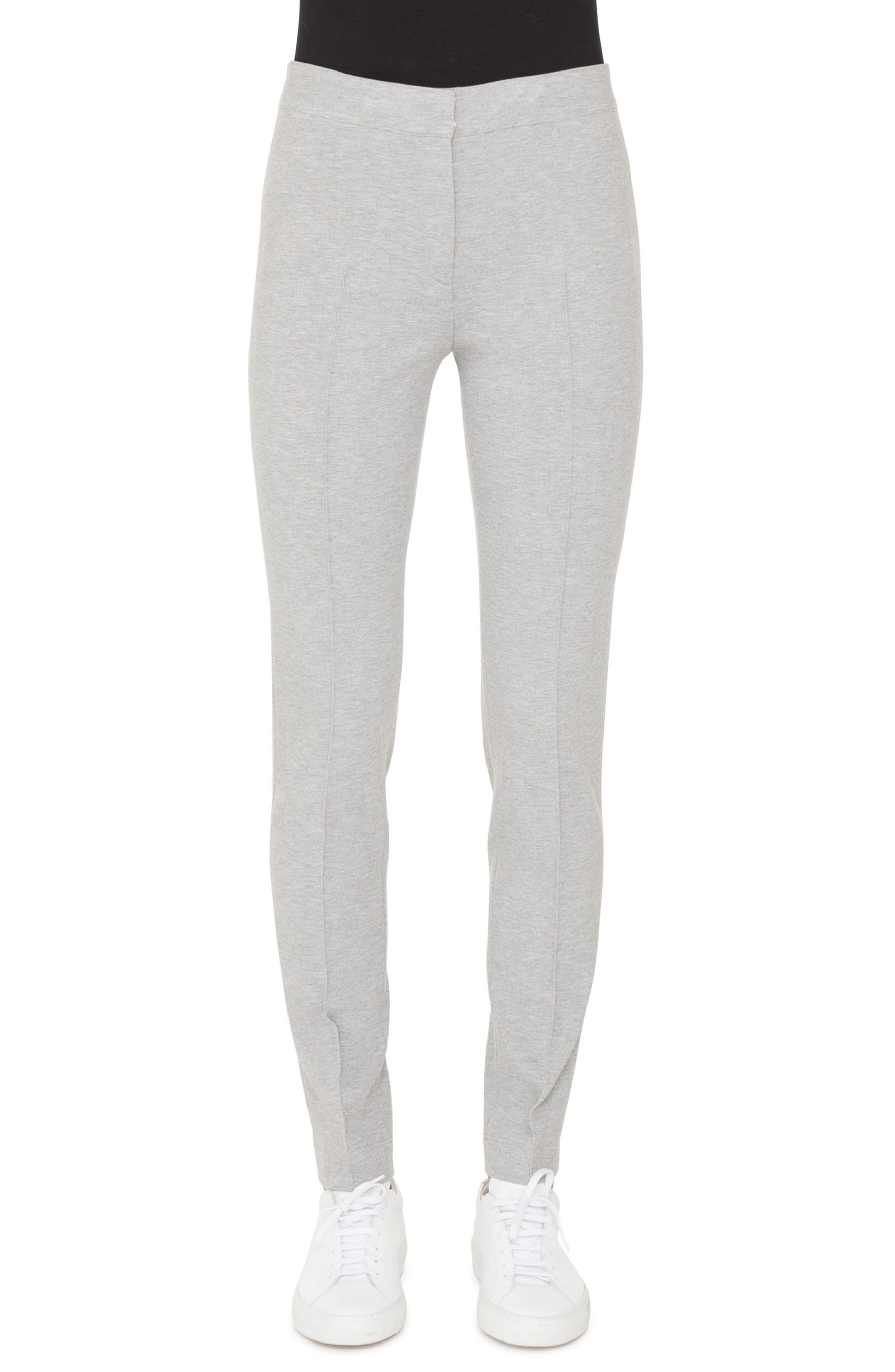 Mara Stretch Jersey Pants,                         Main,                         color, SILVER