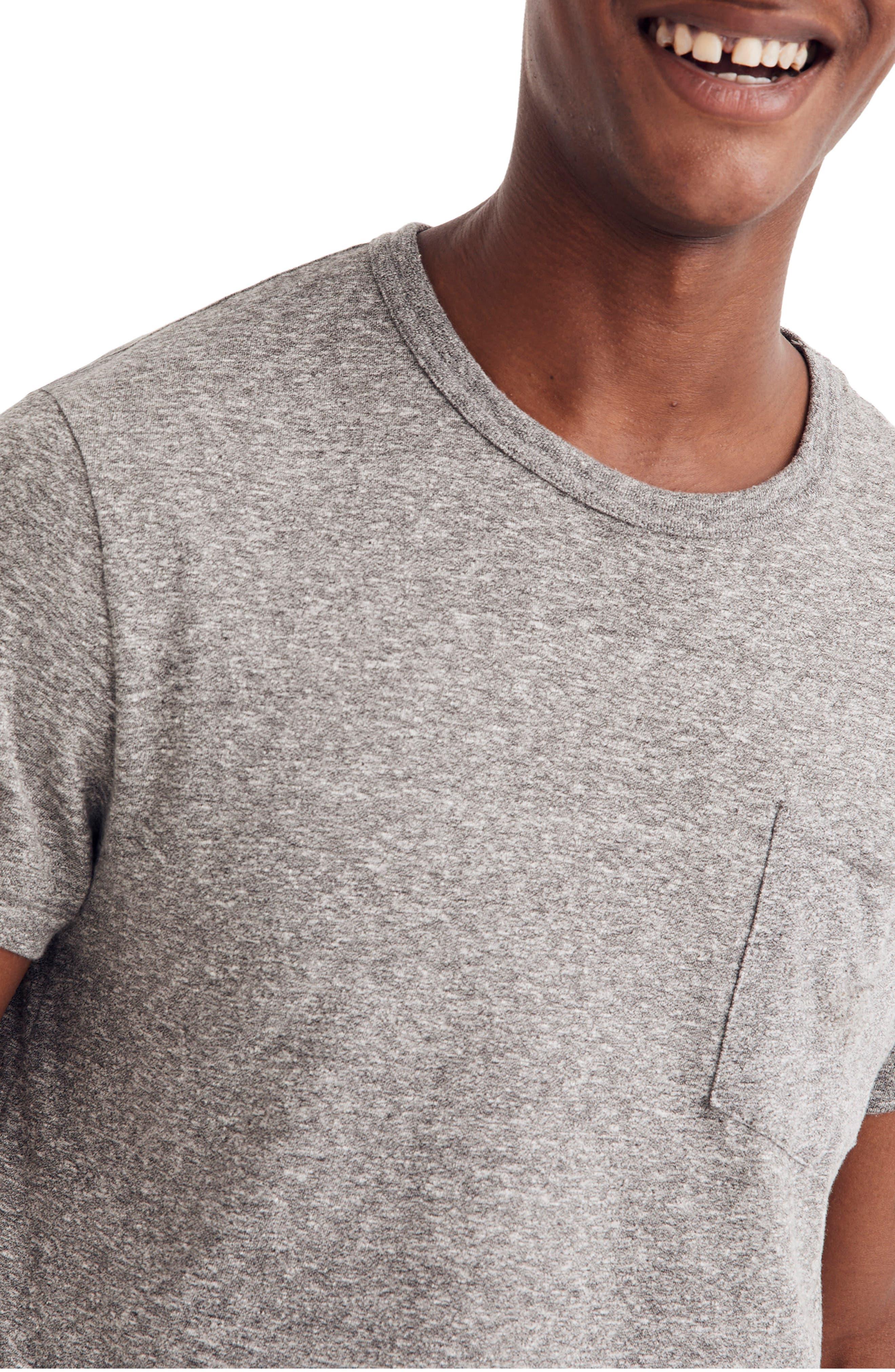 Pocket T-Shirt,                             Alternate thumbnail 3, color,                             HEATHER GREY