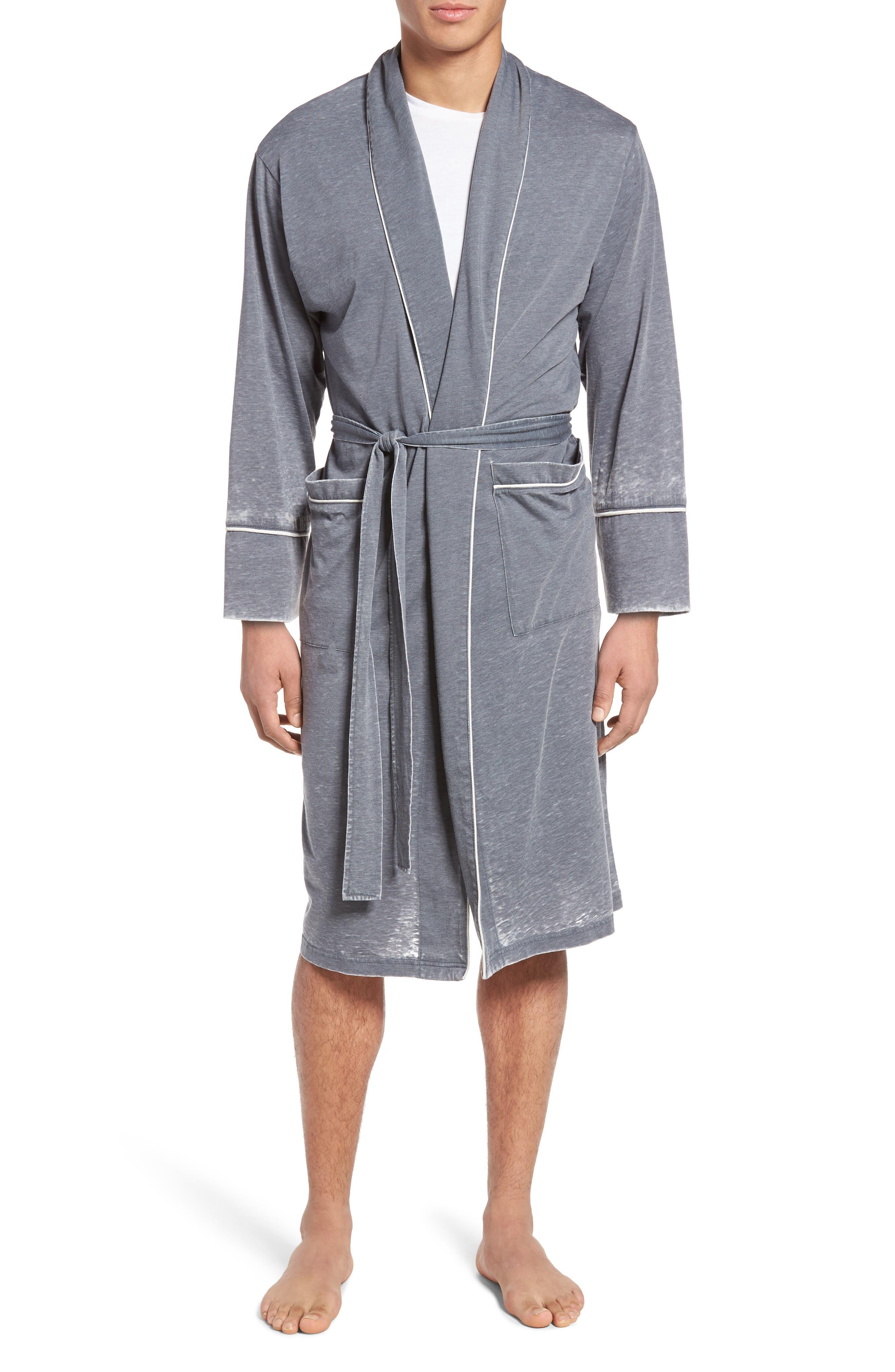 Burnout Cotton Blend Robe,                             Main thumbnail 1, color,                             020