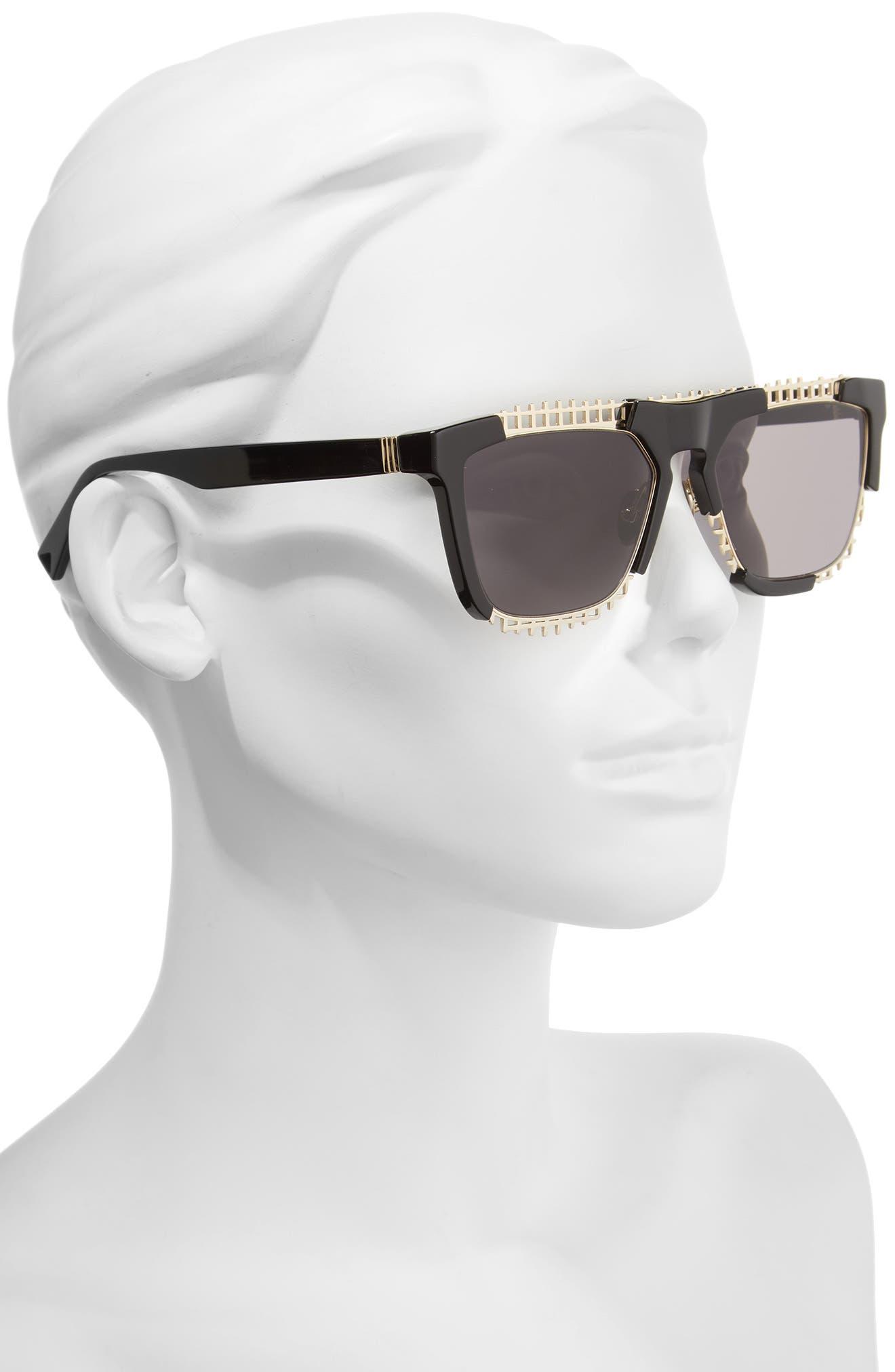Coz 55mm Square Sunglasses,                             Alternate thumbnail 2, color,                             001
