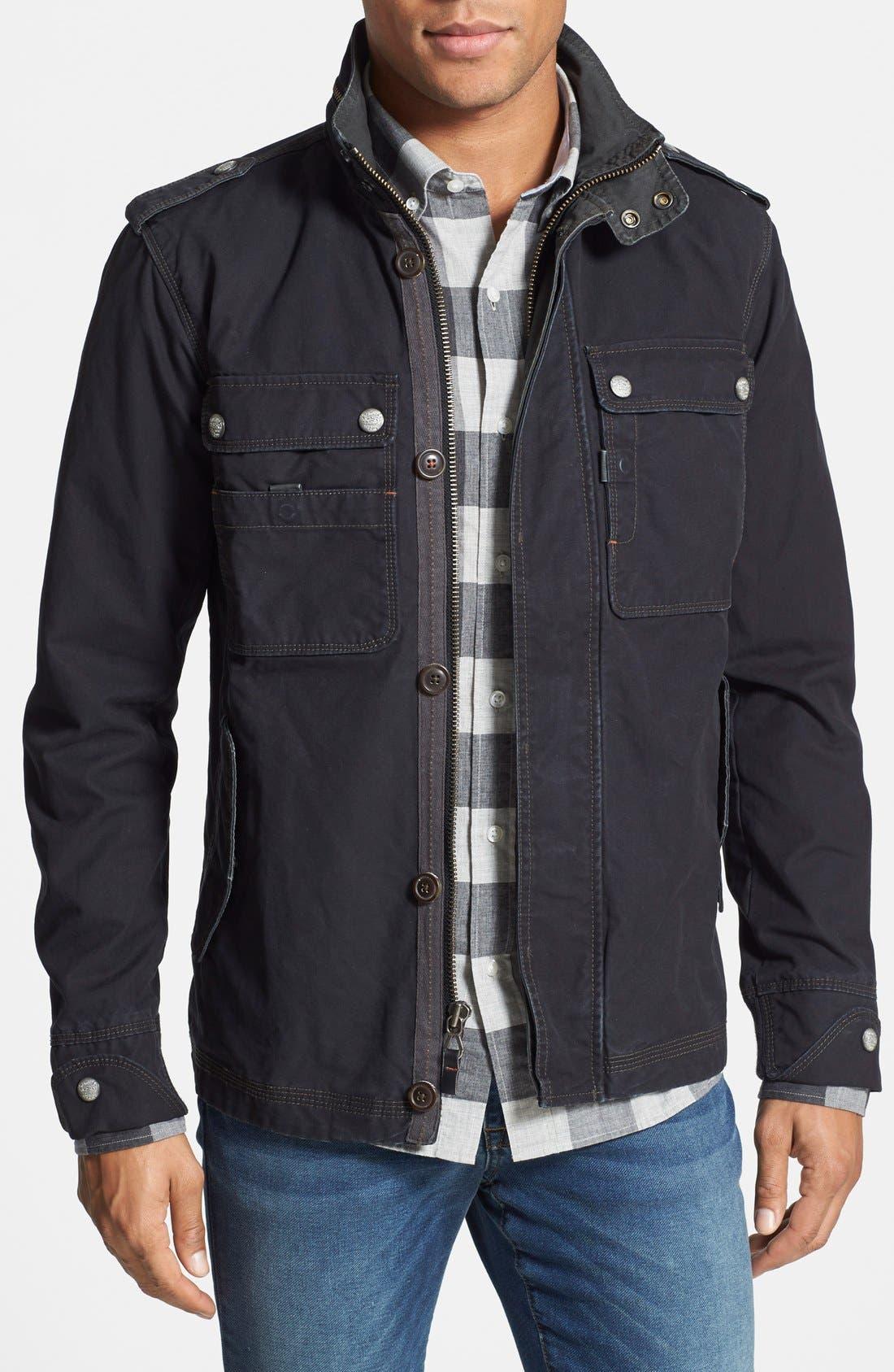 'Paxton' Military Jacket with Stowaway Hood,                             Main thumbnail 2, color,