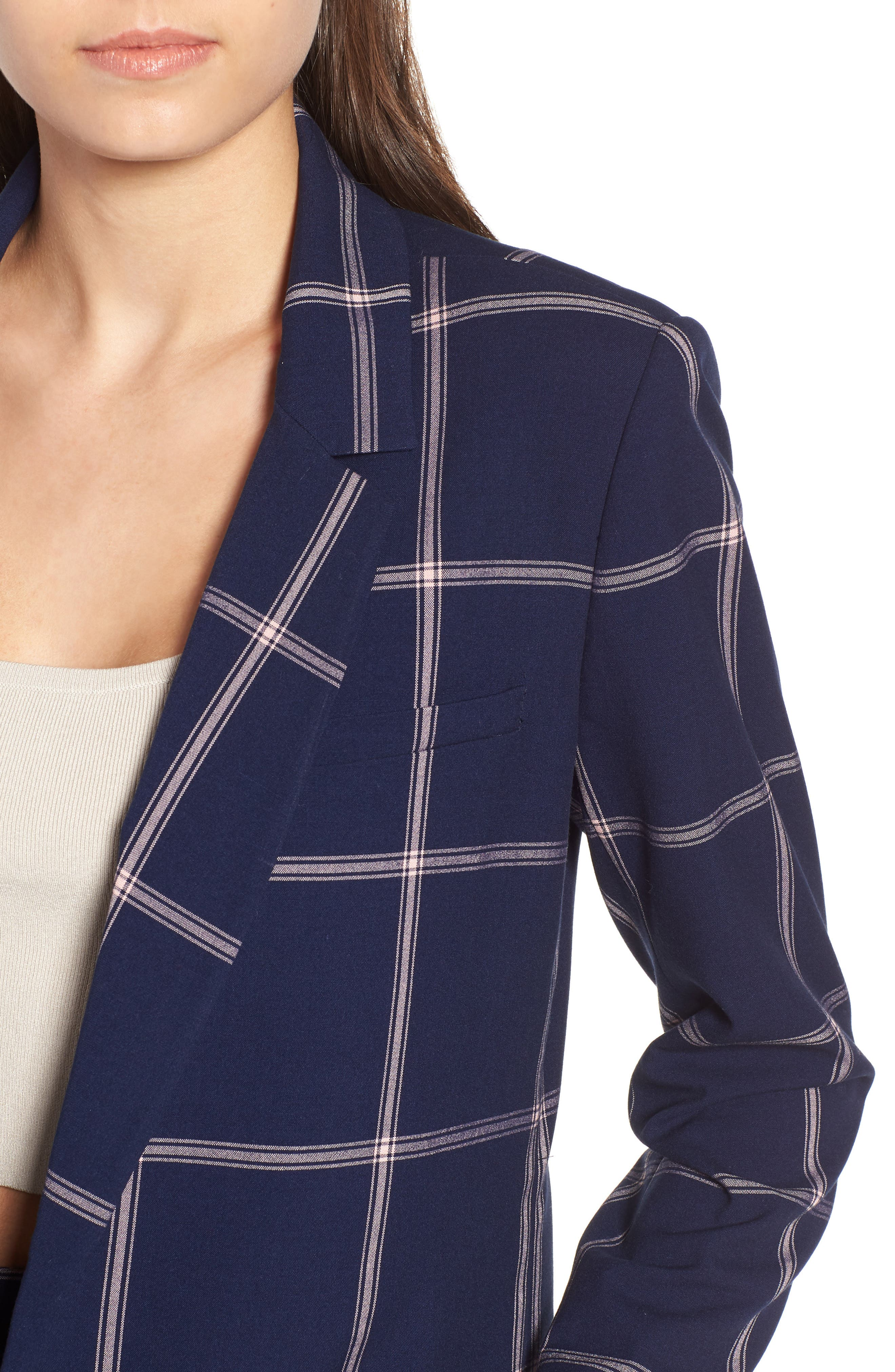 Woven Relaxed Fit Blazer,                             Alternate thumbnail 4, color,                             410