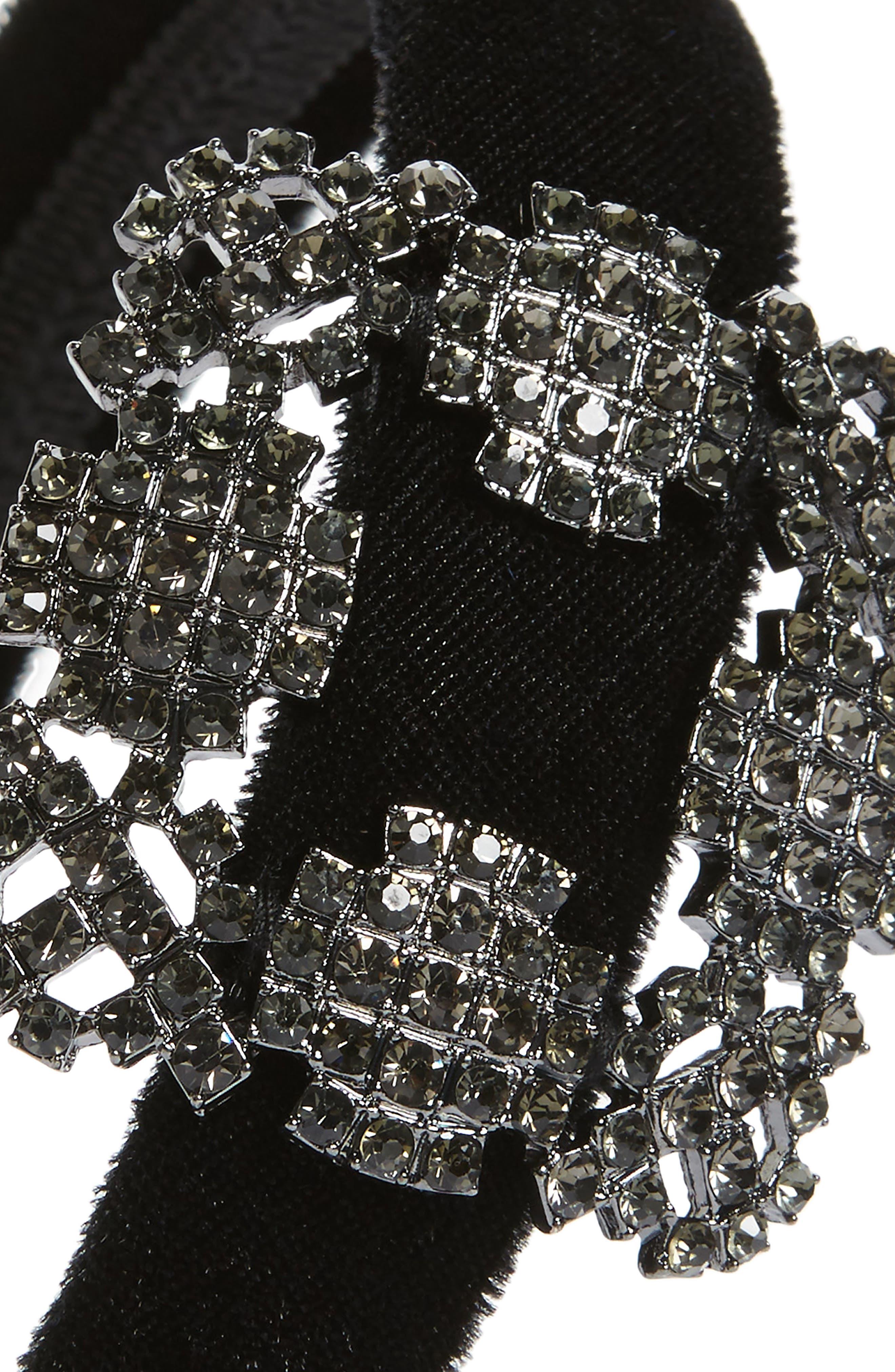 Natasha Buckle Headband,                             Alternate thumbnail 2, color,                             BLACK