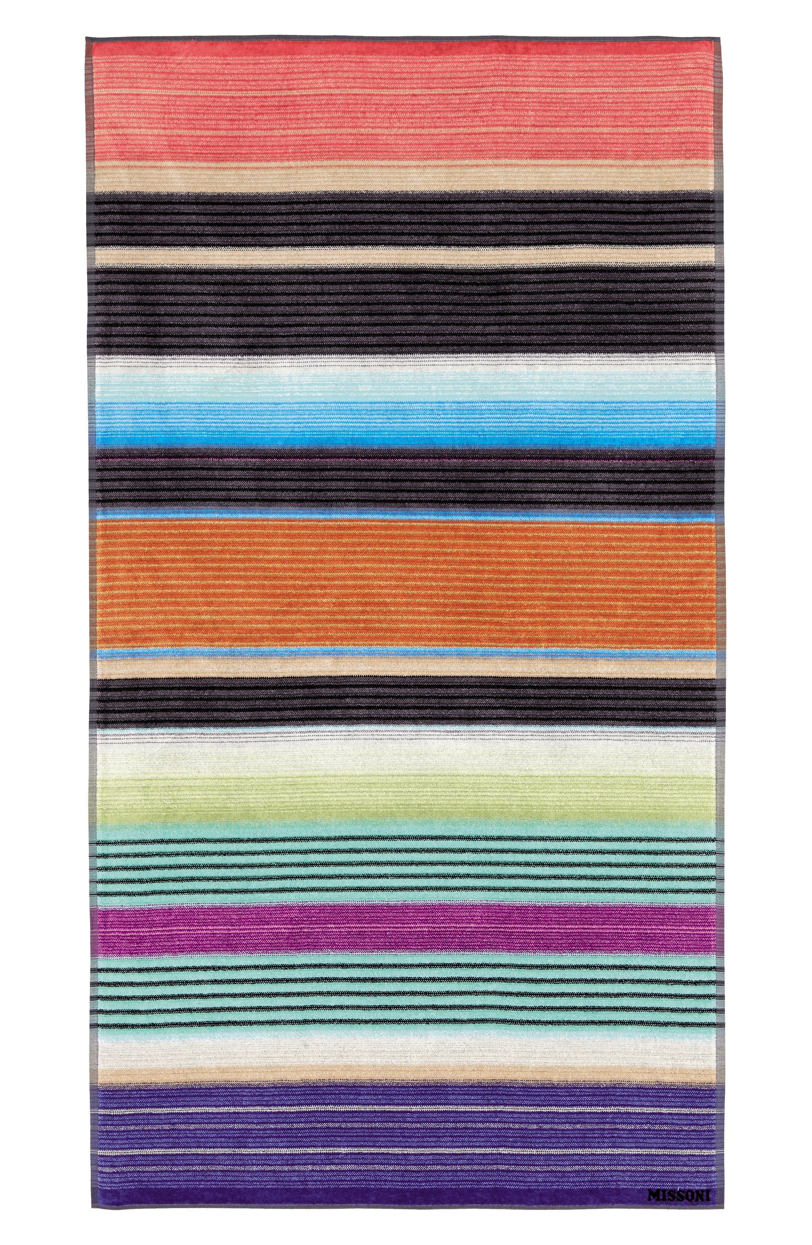 Viviette Beach Towel,                             Main thumbnail 1, color,                             MULTI