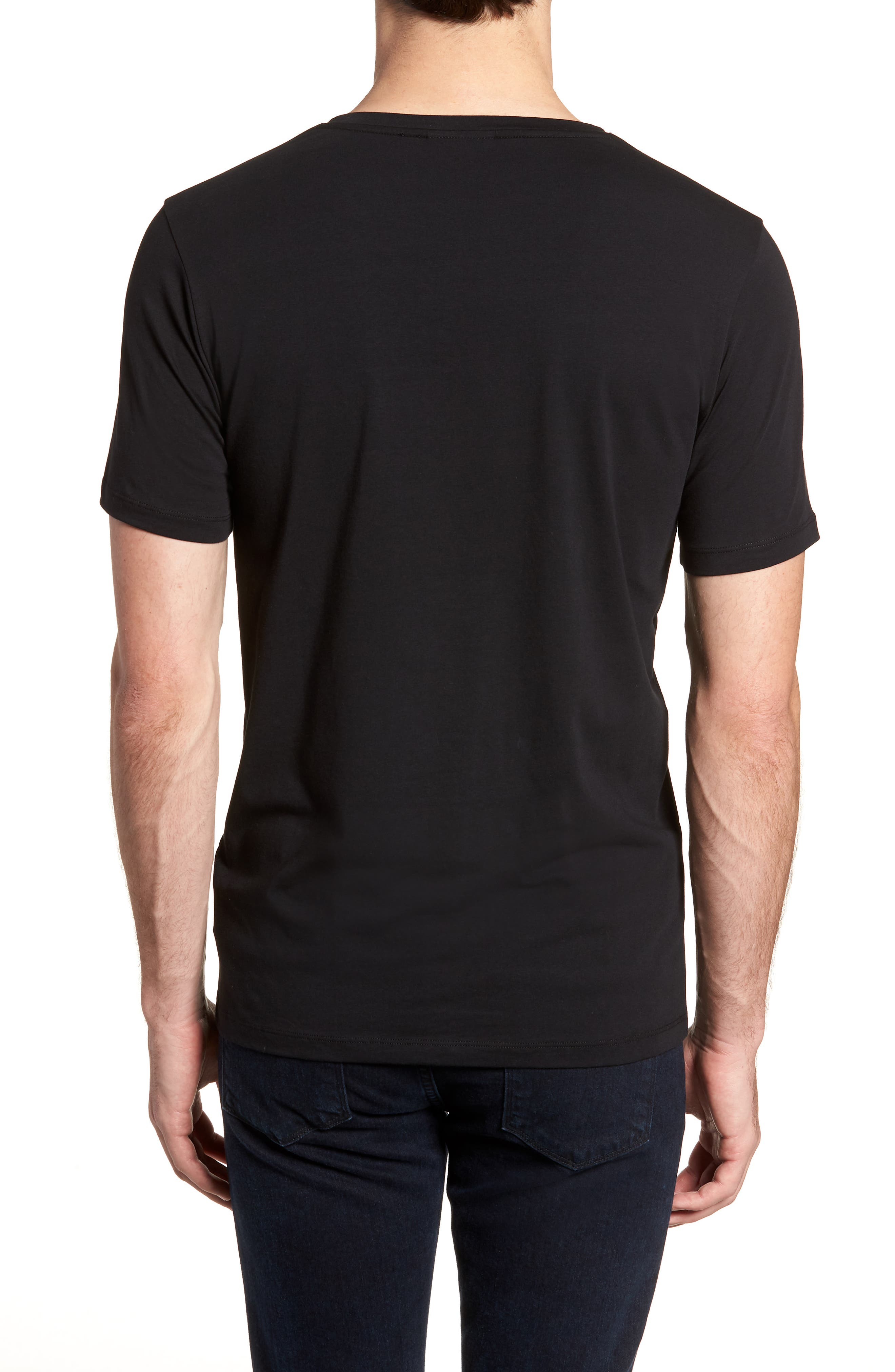 Dandre Slim Fit V-Neck T-Shirt,                             Alternate thumbnail 2, color,                             001