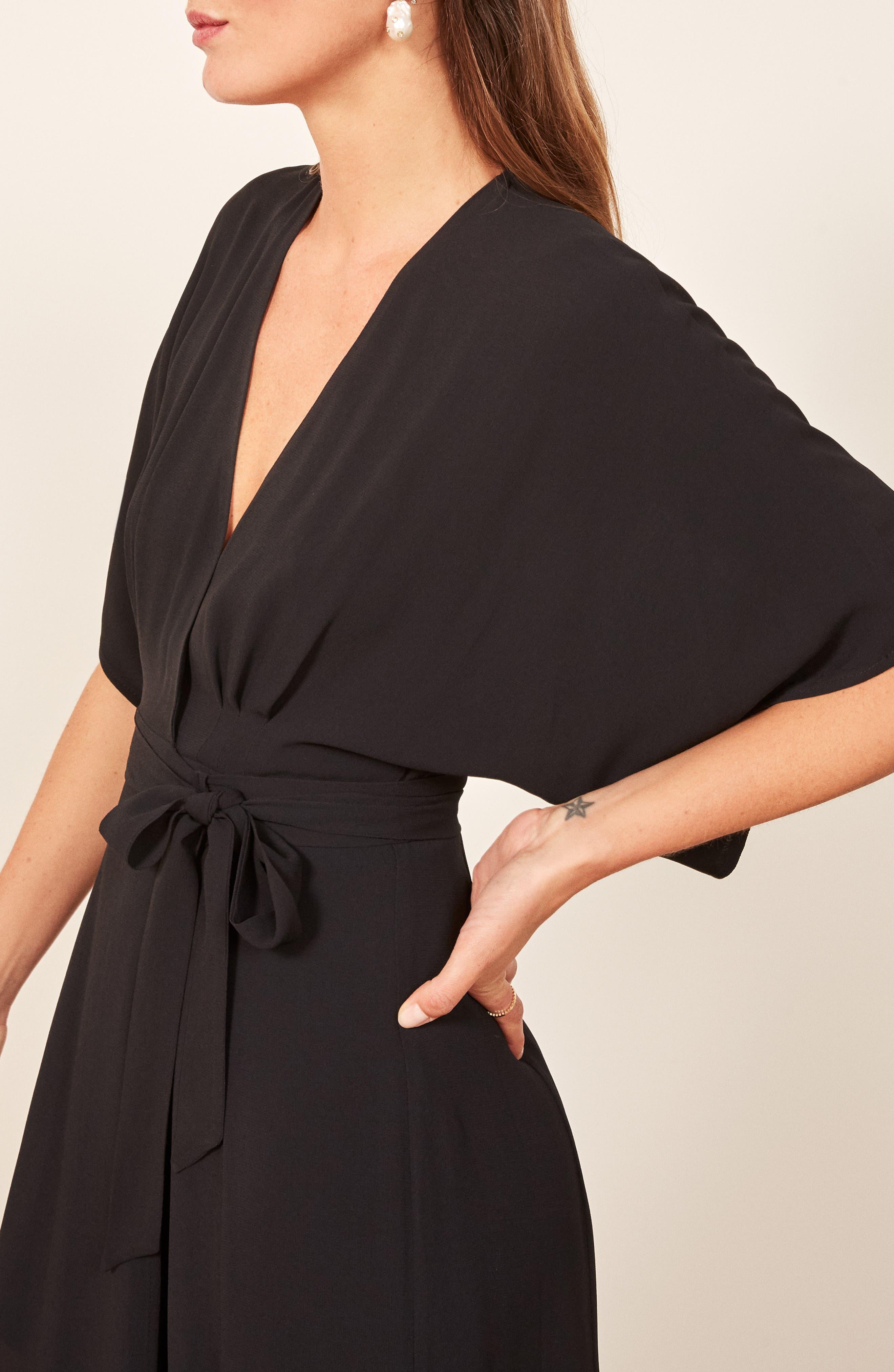 Winslow Maxi Dress,                             Alternate thumbnail 6, color,                             BLACK