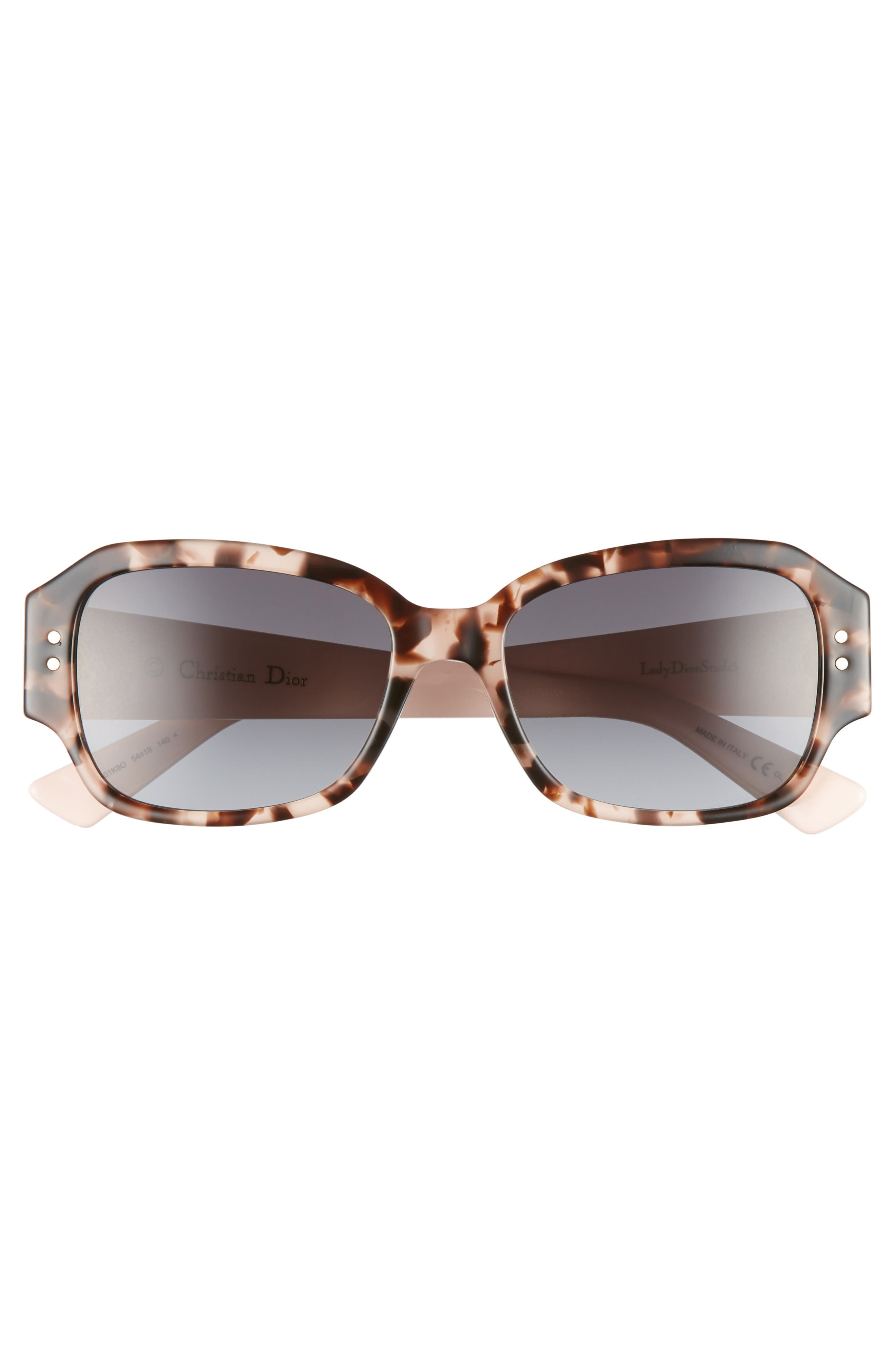Ladydiorstuds5 54mm Sunglasses,                             Alternate thumbnail 3, color,                             HAVANA LIGHT PINK