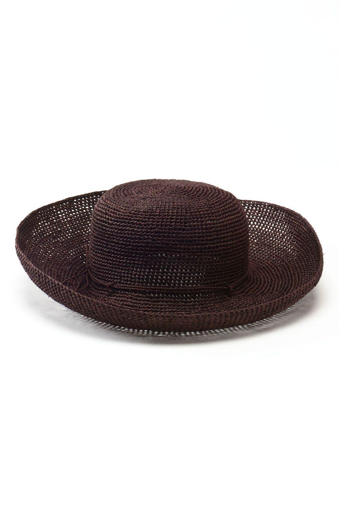 'Provence 12' Packable Raffia Hat,                             Main thumbnail 14, color,