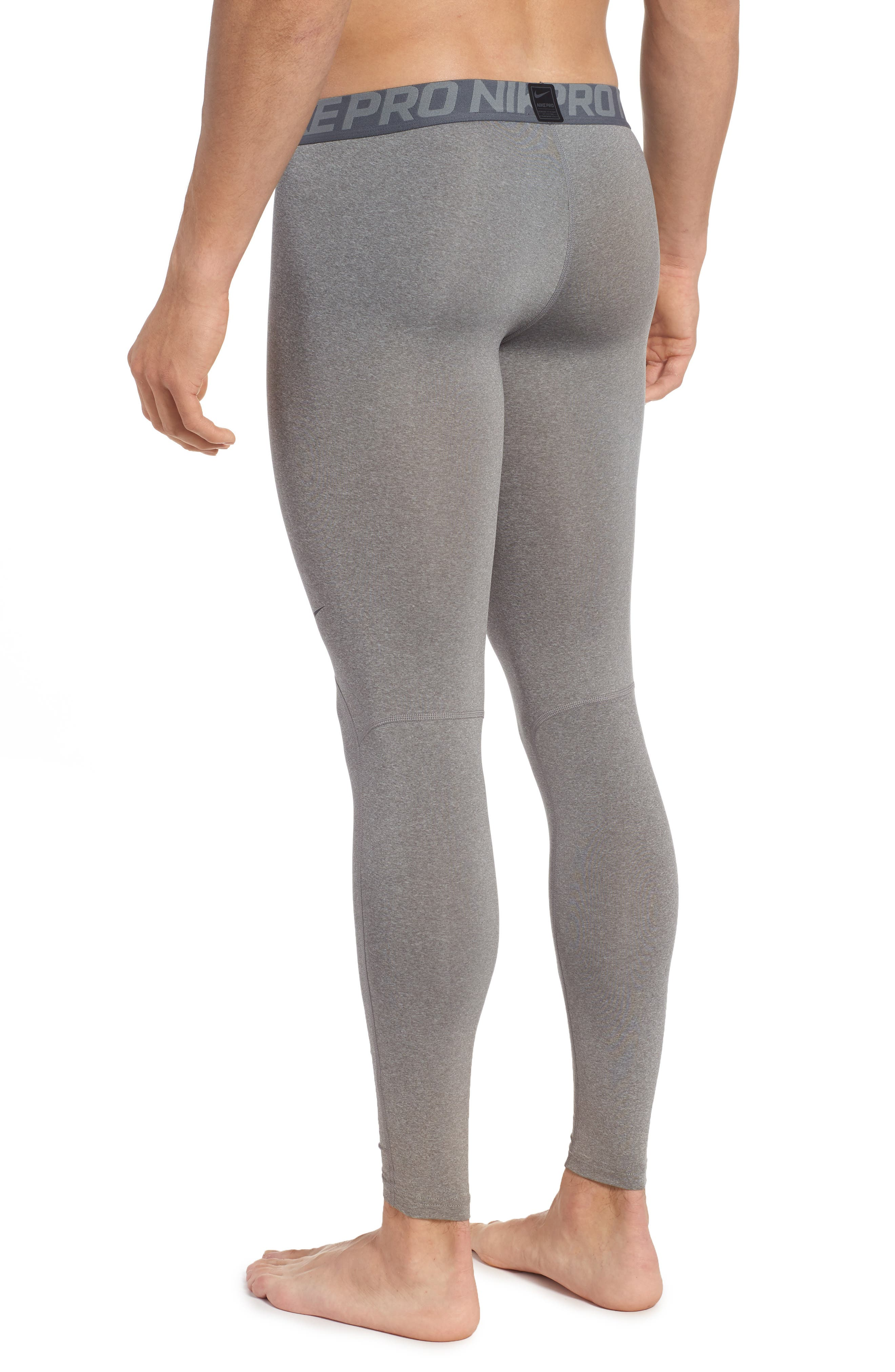 Pro Athletic Tights,                             Alternate thumbnail 2, color,                             CARBON HEATHER/ GREY/ BLACK