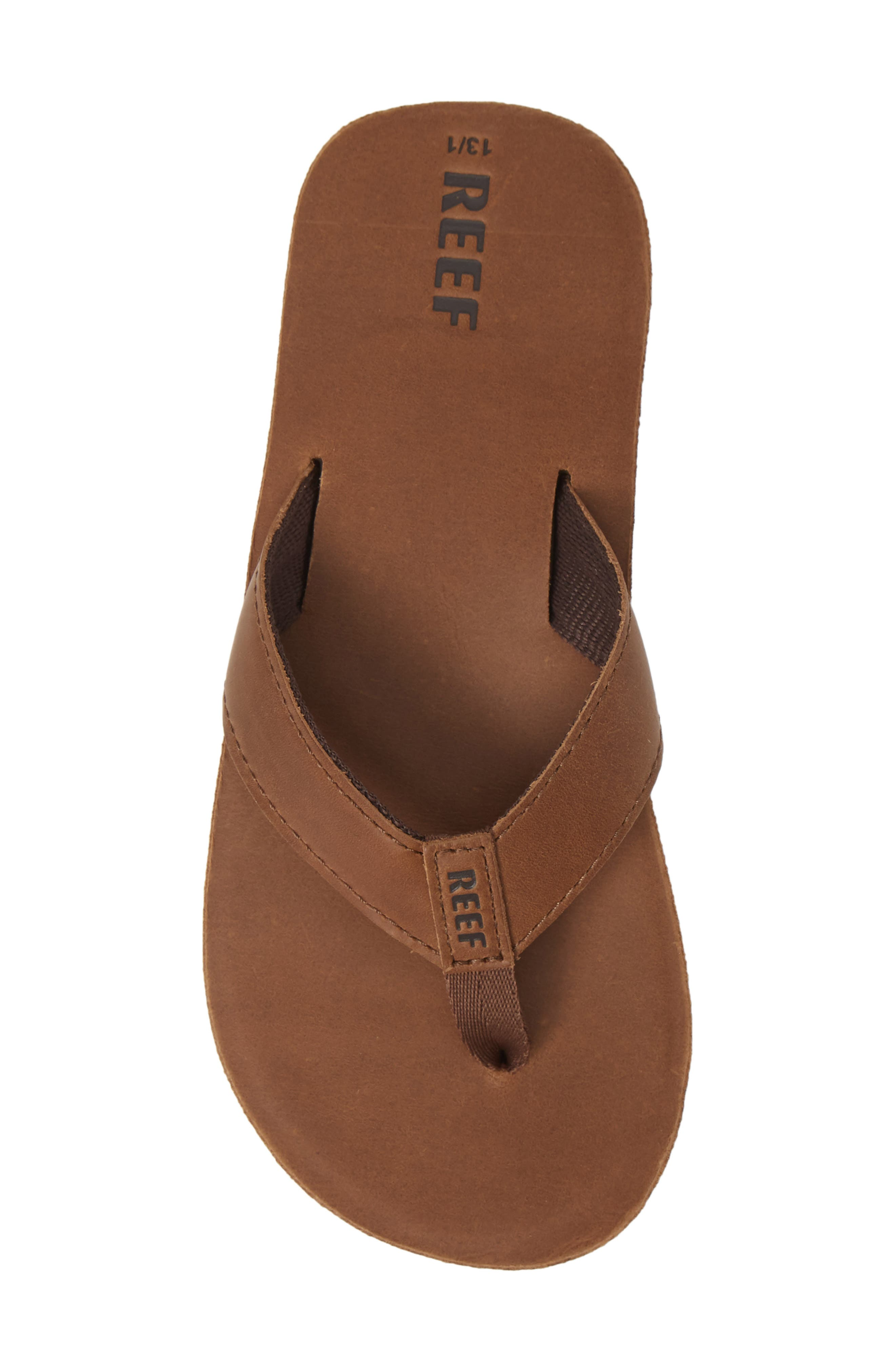 Smoothy Flip Flop,                             Alternate thumbnail 5, color,                             BRONZE BROWN