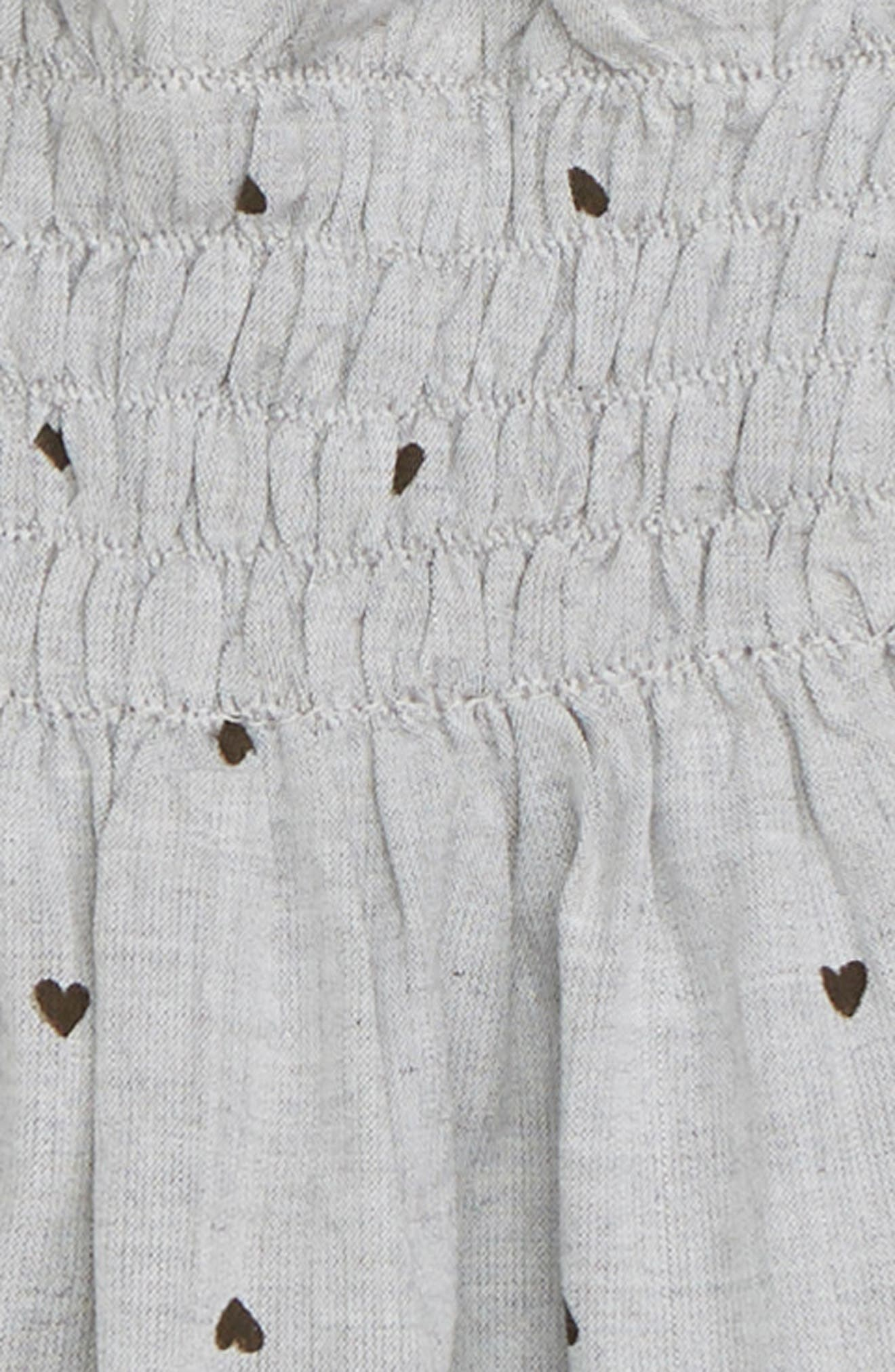 Mia Flutter Sleeve Top,                             Alternate thumbnail 2, color,                             GREY