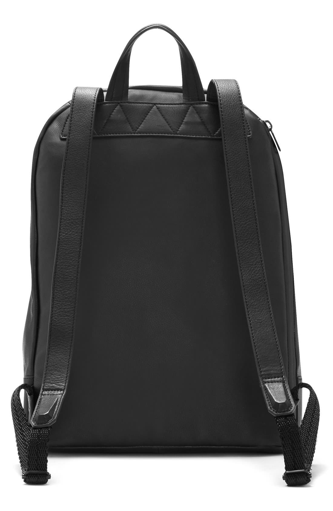 'Tolve' Leather Backpack,                             Alternate thumbnail 3, color,                             001