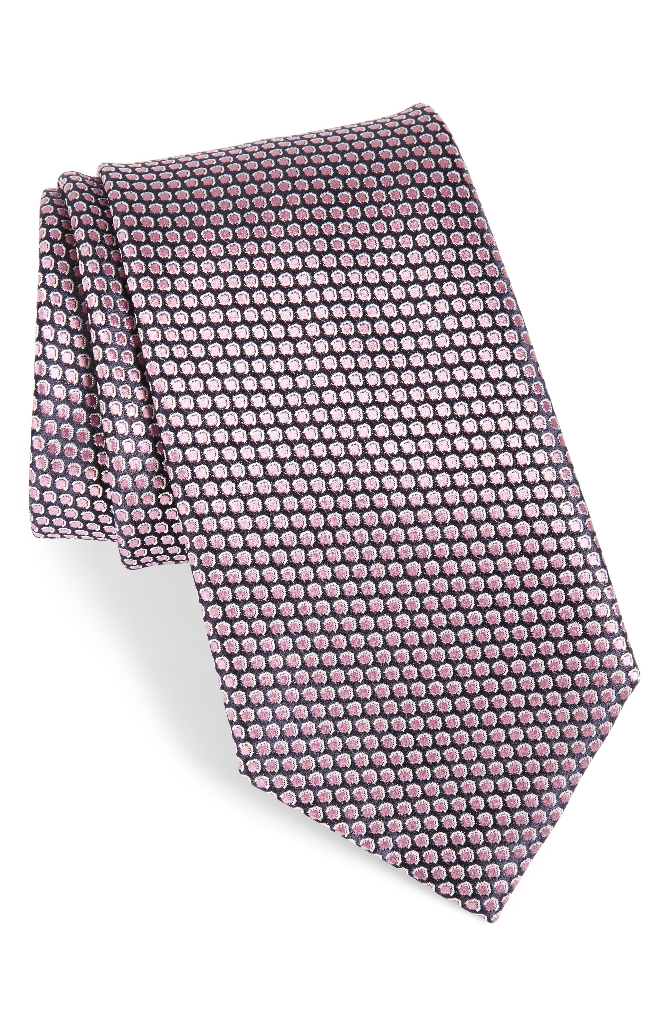 Geometric Silk Tie,                         Main,                         color, 662
