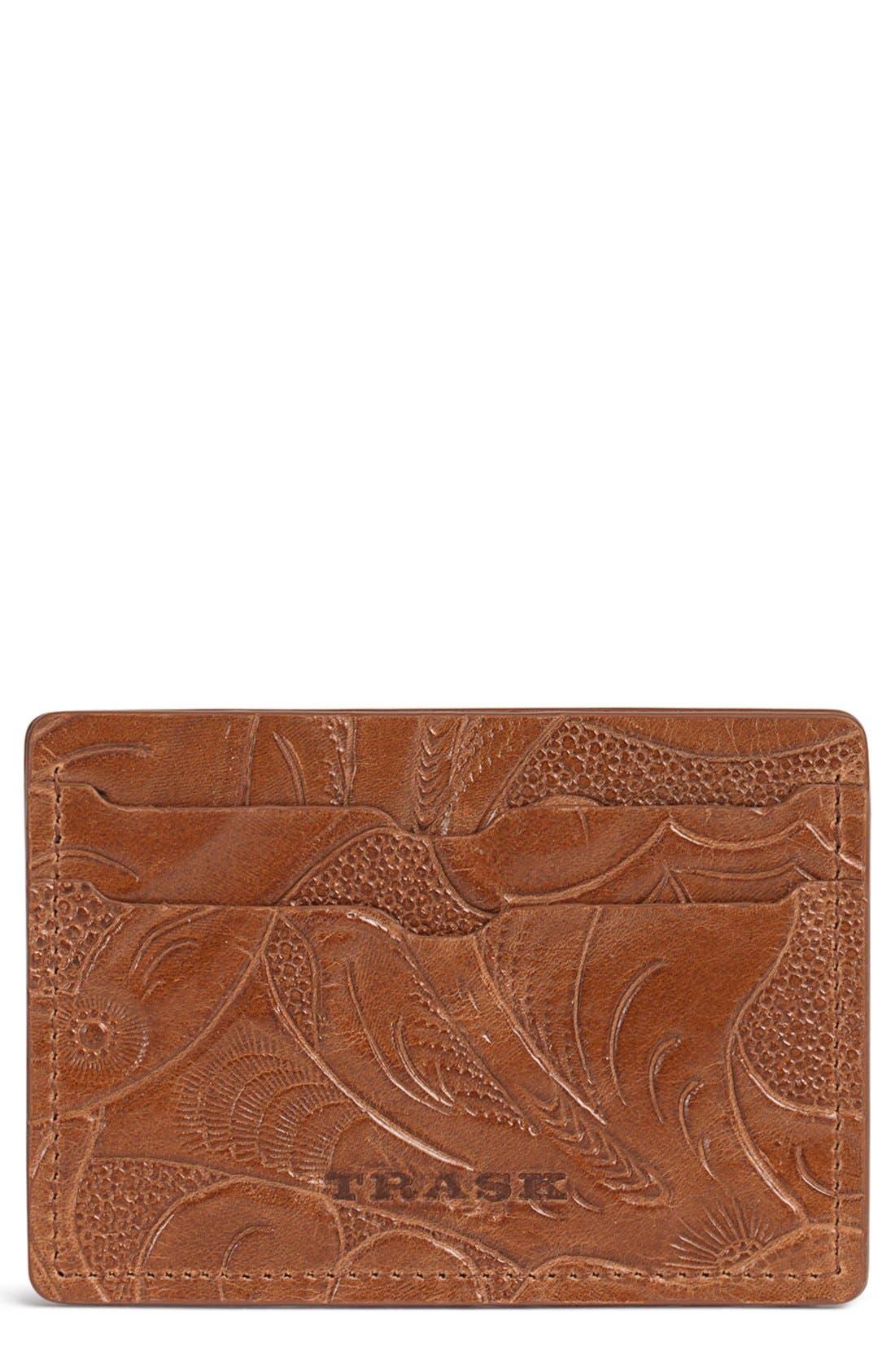 'Jackson' Italian Steer Leather Card Case,                             Main thumbnail 1, color,                             240