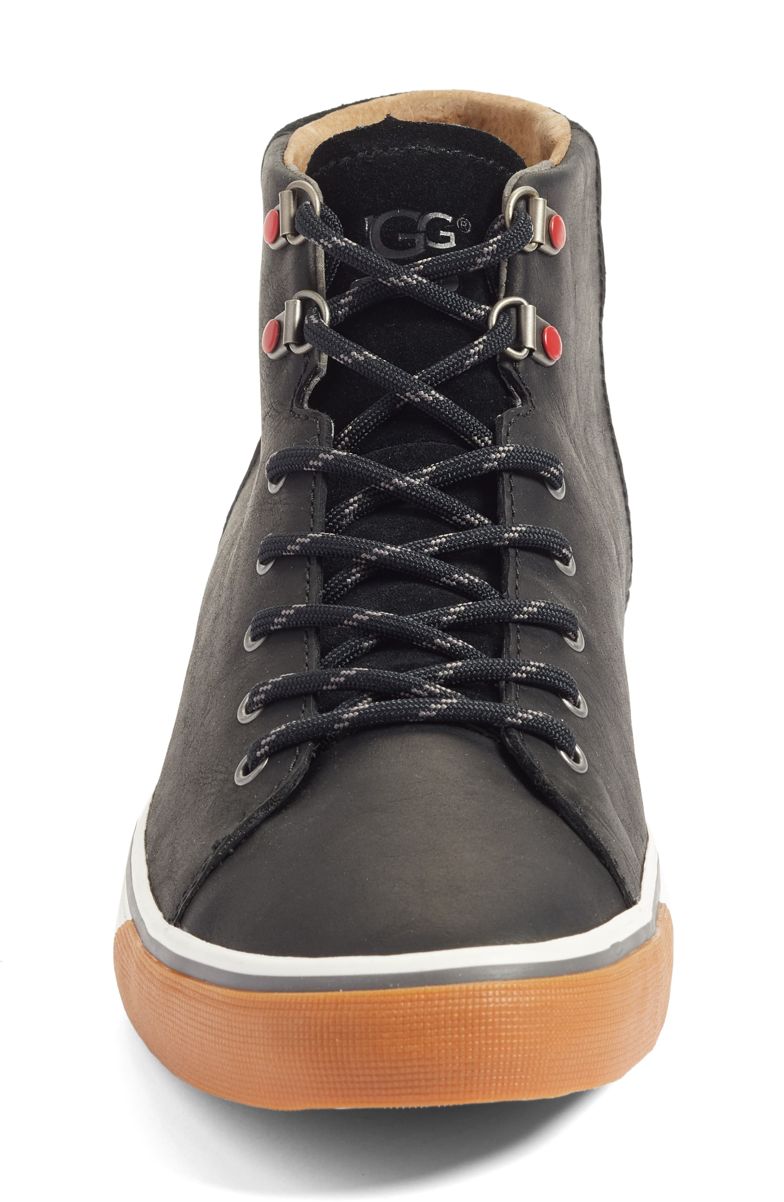 Hoyt High Top Sneaker,                             Alternate thumbnail 4, color,                             001