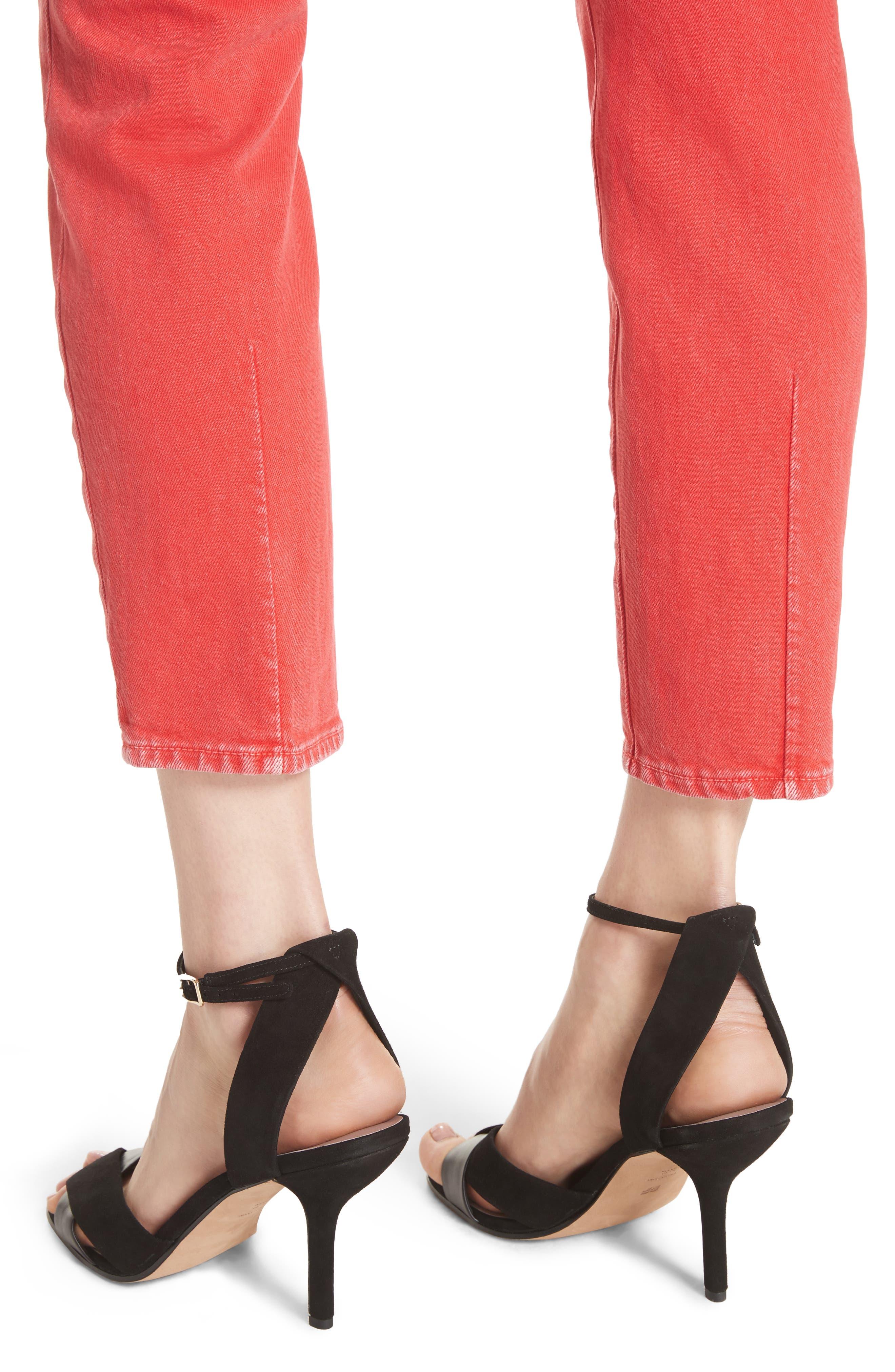 AO.LA Good High Rise Ankle Skinny Jeans,                             Alternate thumbnail 4, color,