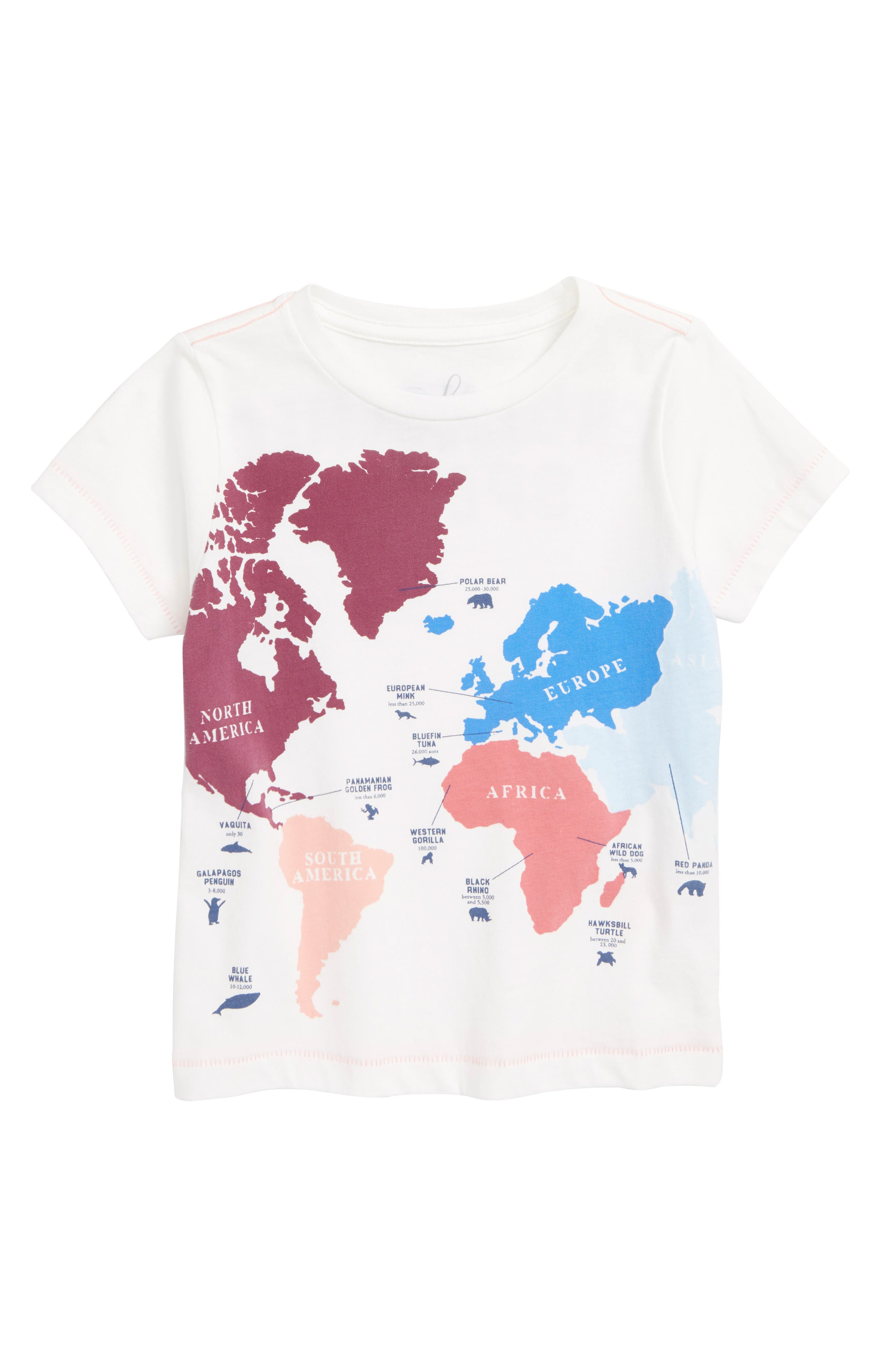 Endangered Graphic Tee,                         Main,                         color, IVORY
