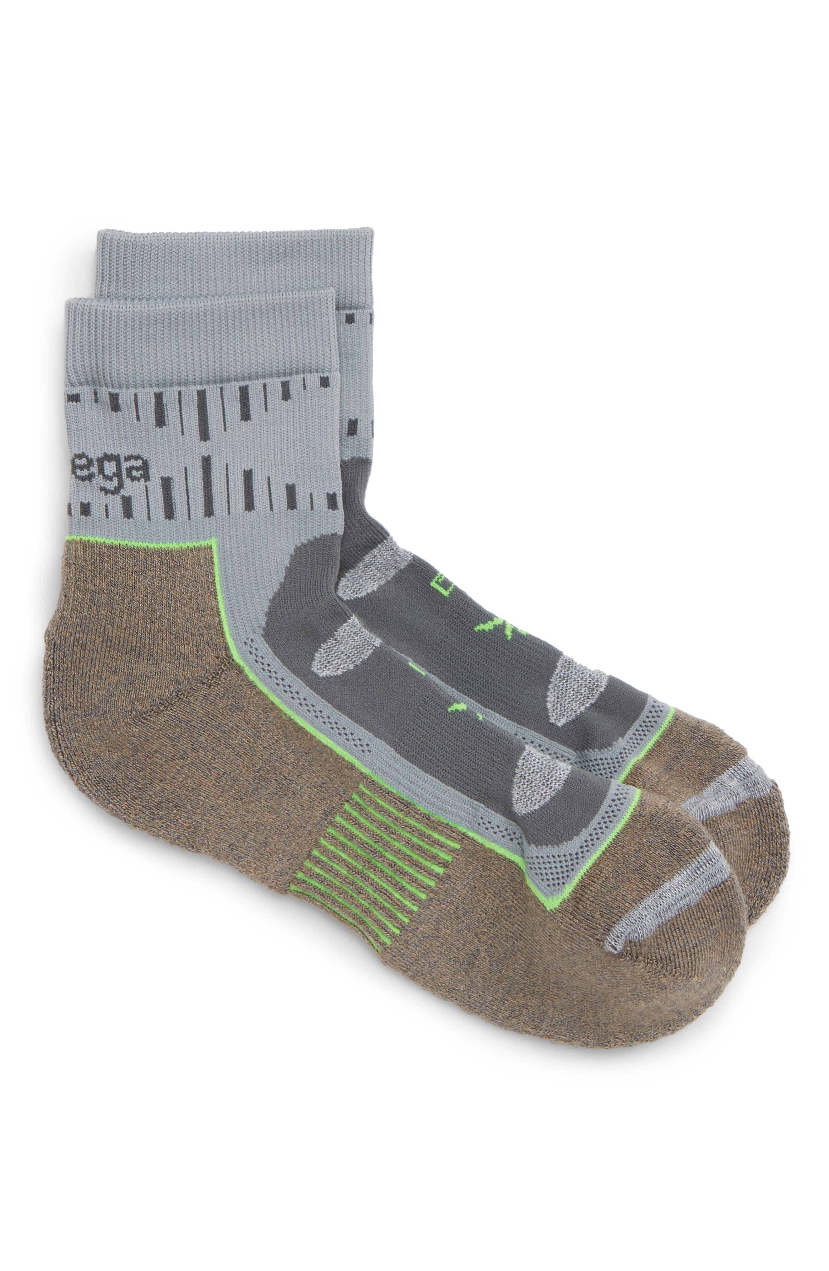 Nord Blast Quarter Socks,                             Main thumbnail 1, color,                             MINK/ GREY
