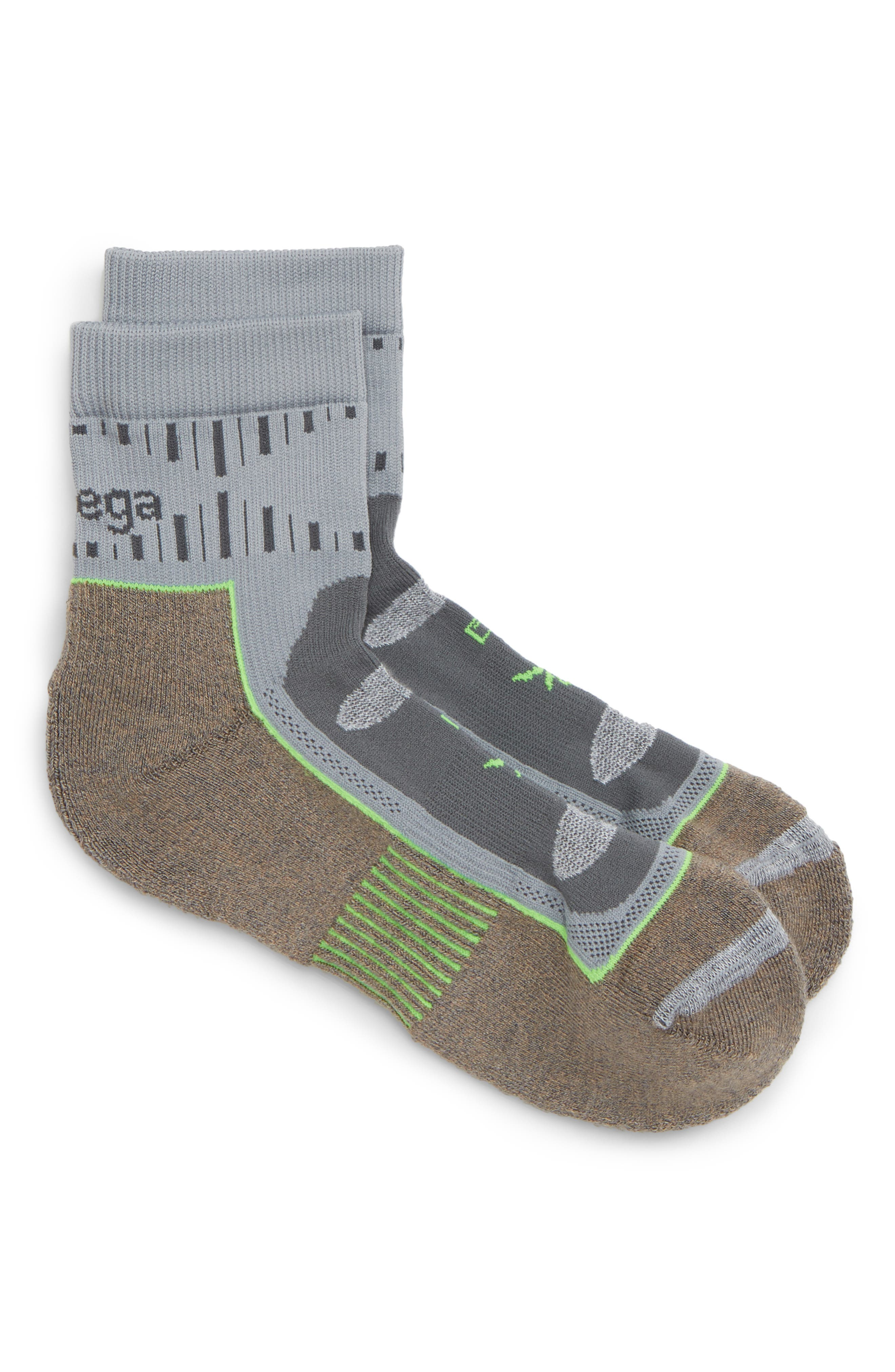 Nord Blast Quarter Socks,                         Main,                         color, MINK/ GREY