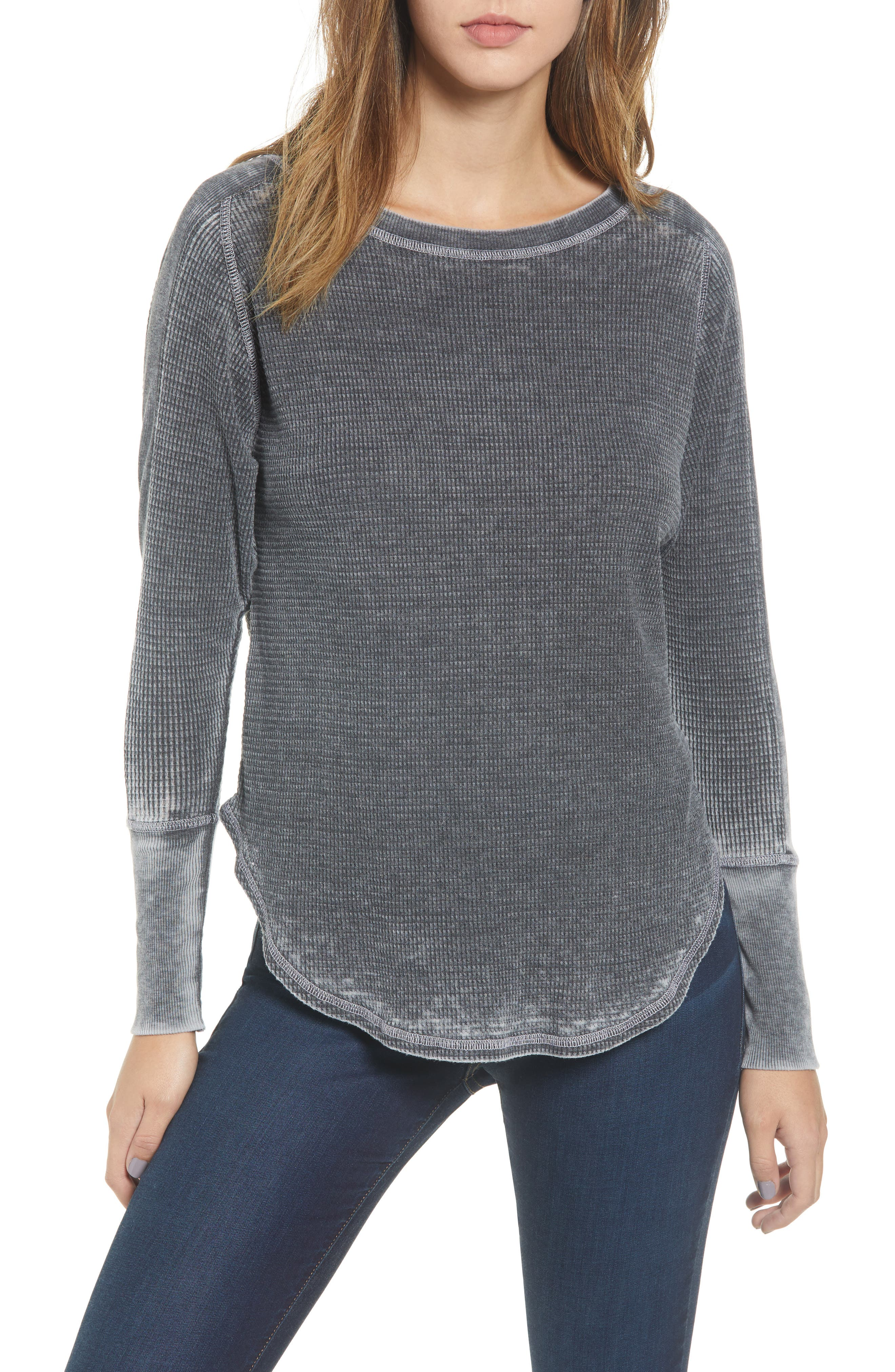 PROJECT SOCIAL T Solomon Waffle Knit Tee, Main, color, 001