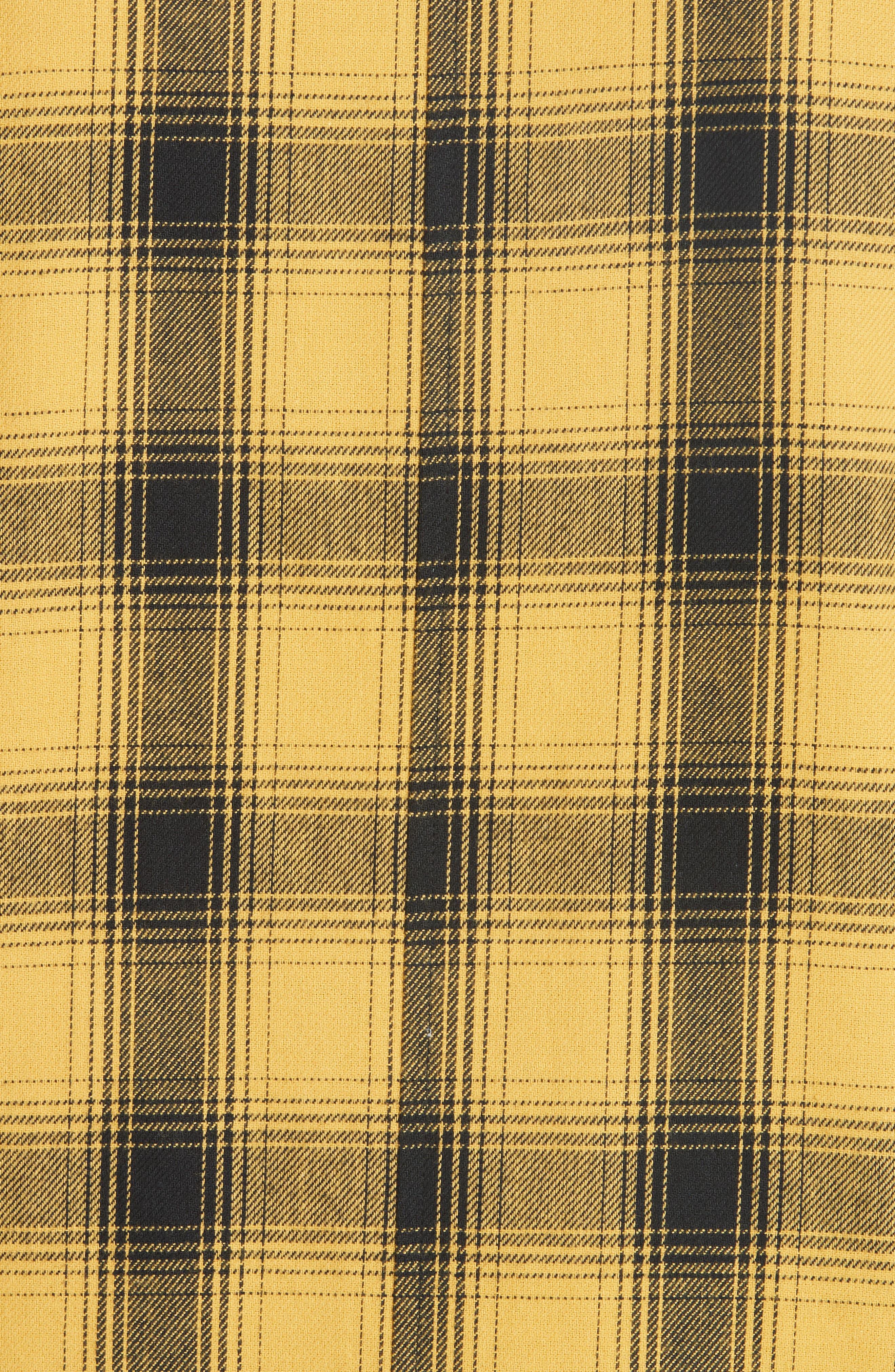 Max Plaid Flannel Shirt,                             Alternate thumbnail 5, color,                             GOLD PLAID