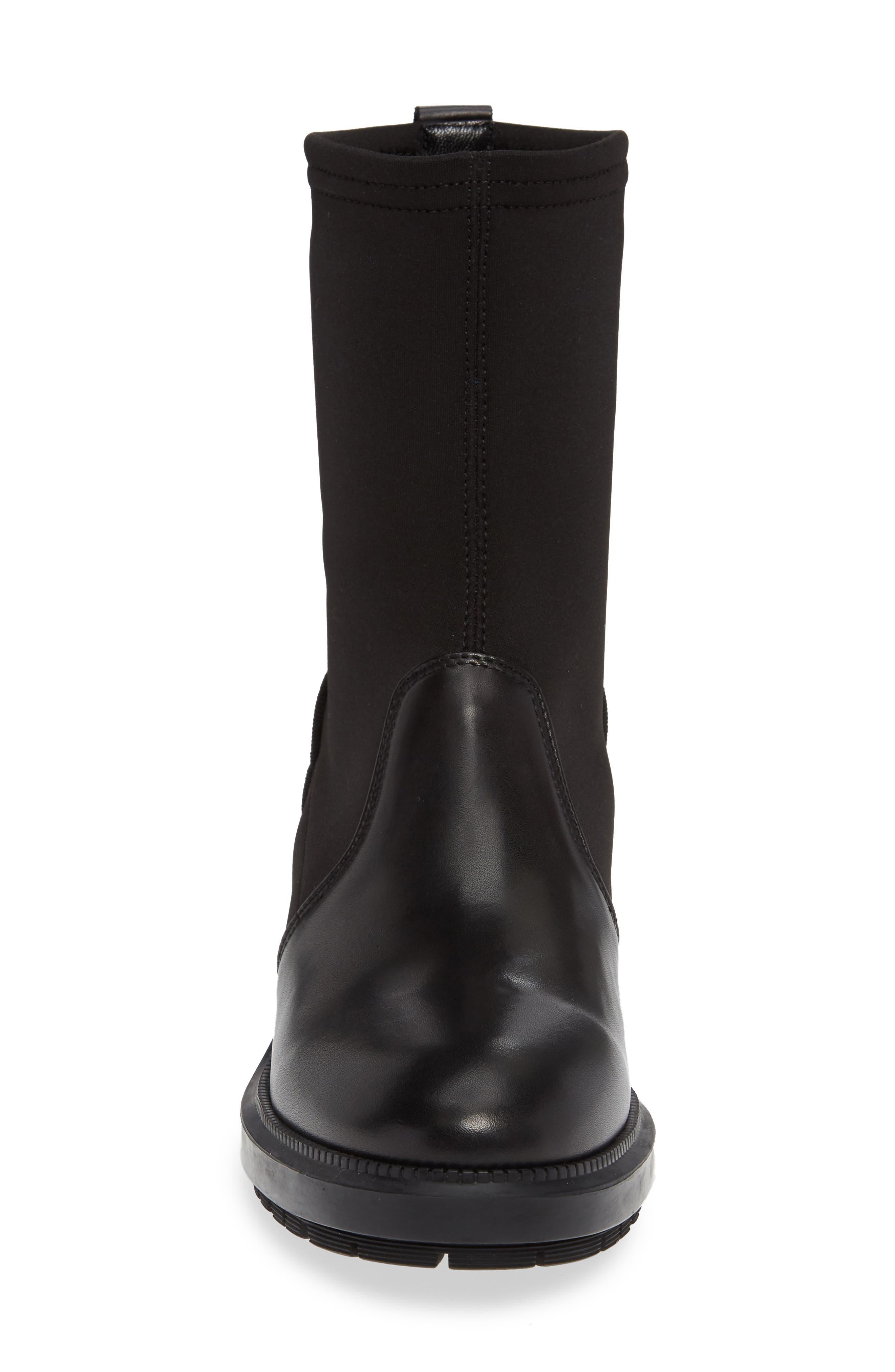 Leoda Ankle Boot,                             Alternate thumbnail 4, color,                             BLACK
