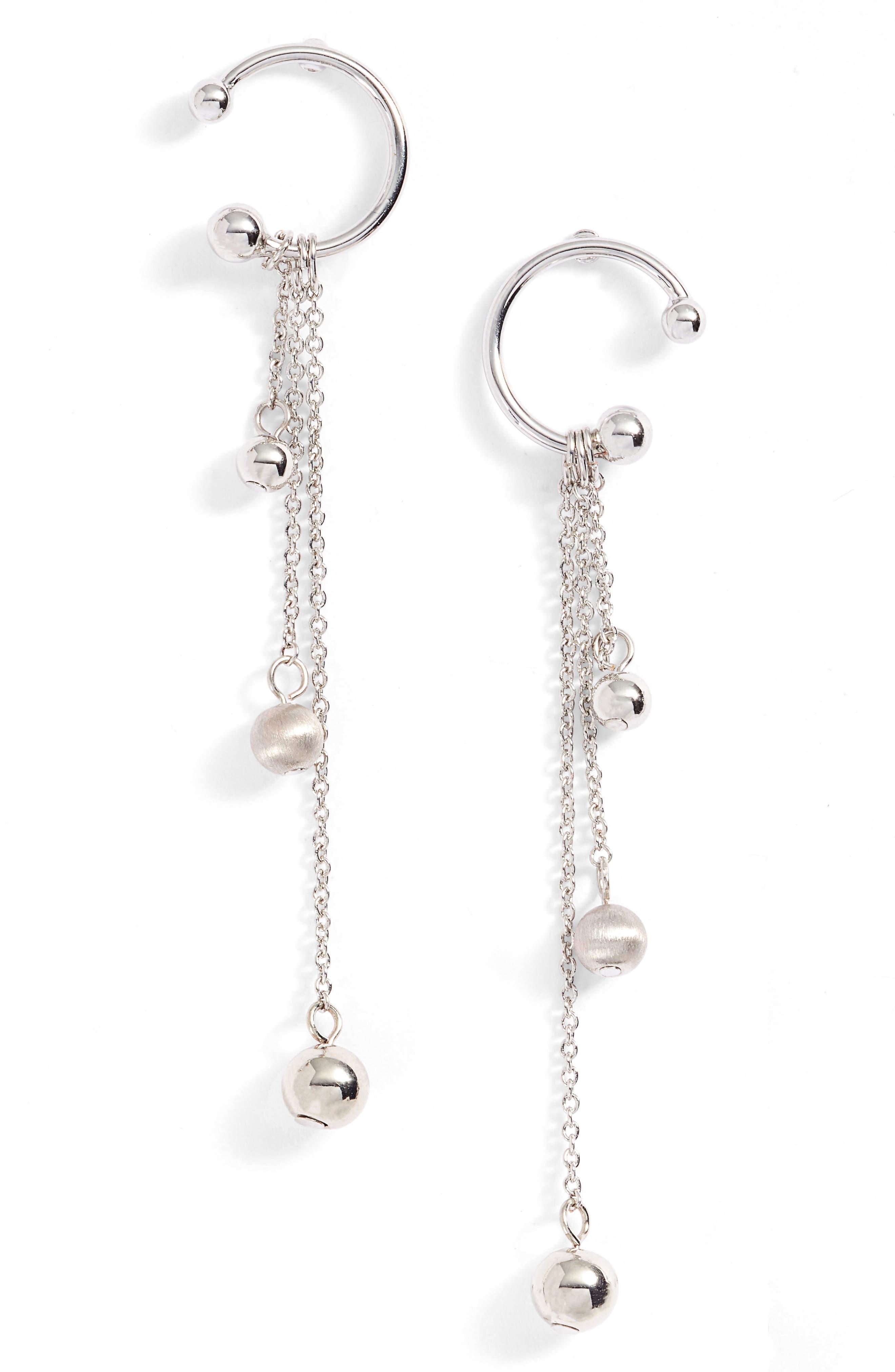 Linear Drop Earrings,                             Main thumbnail 1, color,