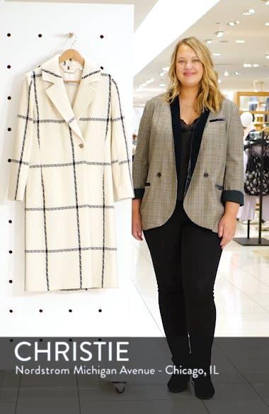 Soniq Check Wool Blend Long Coat, sales video thumbnail
