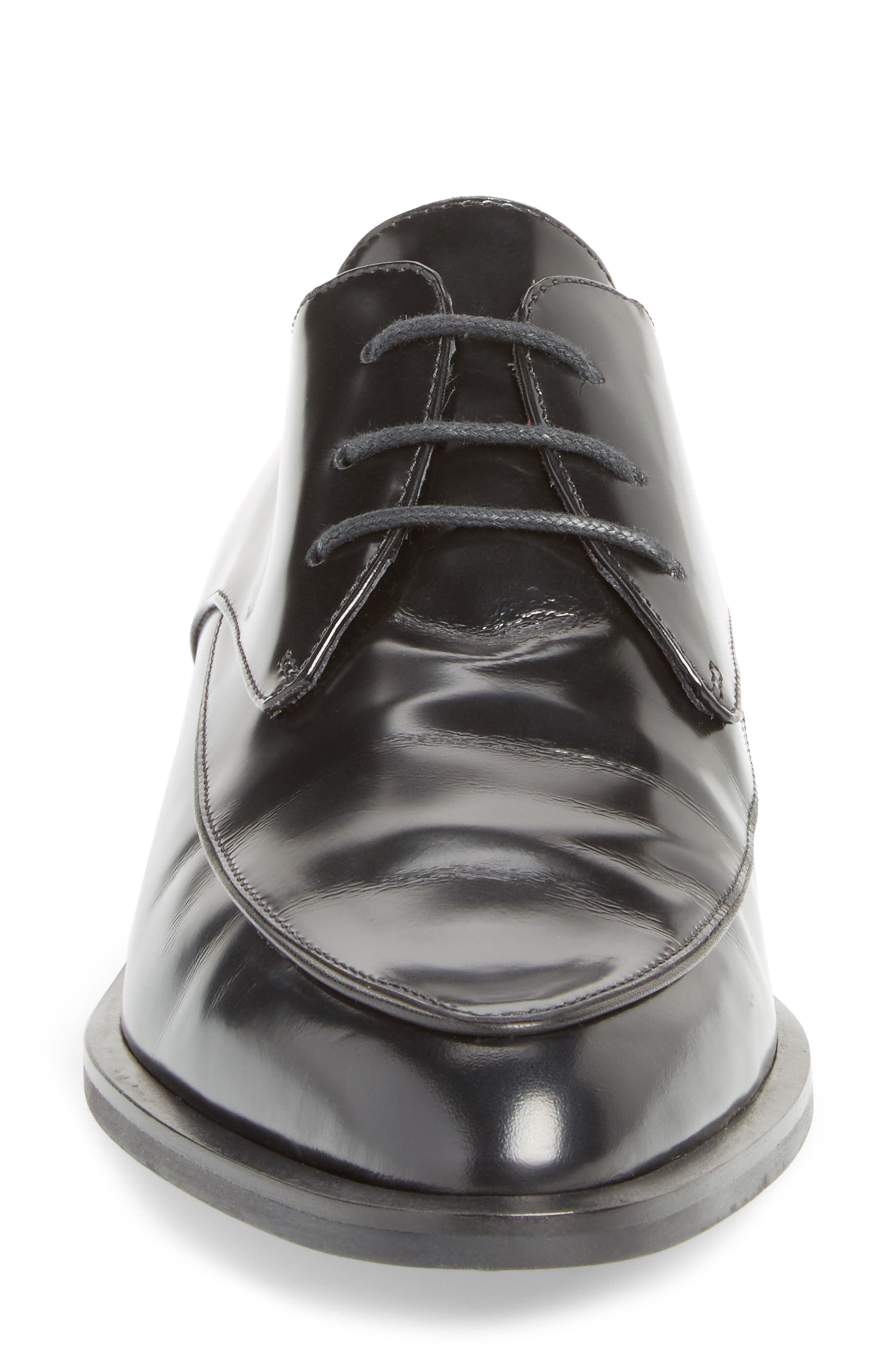 Pointy Toe Oxford,                             Alternate thumbnail 4, color,                             001