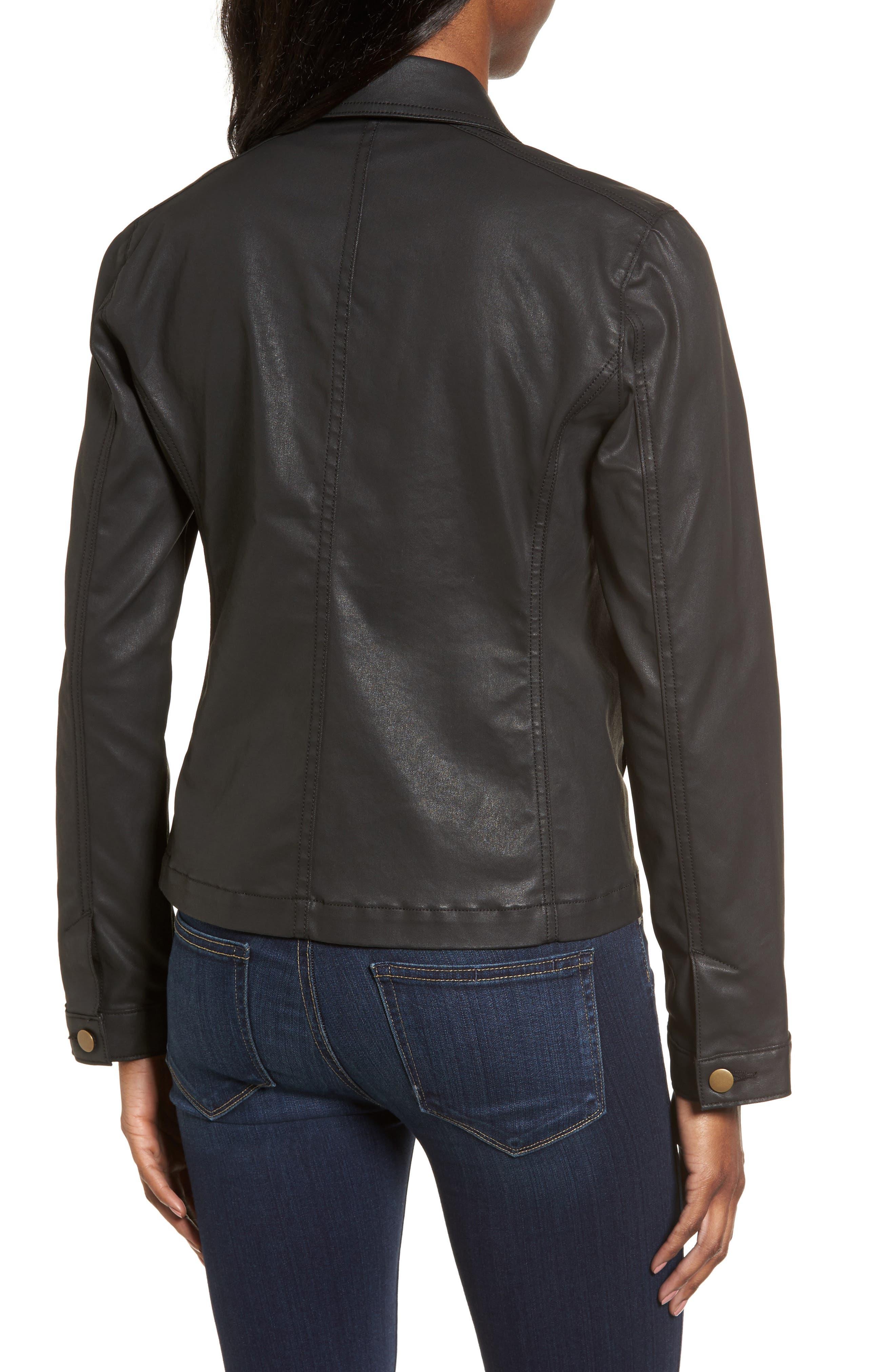 Waxed Moto Jacket,                             Alternate thumbnail 2, color,                             001