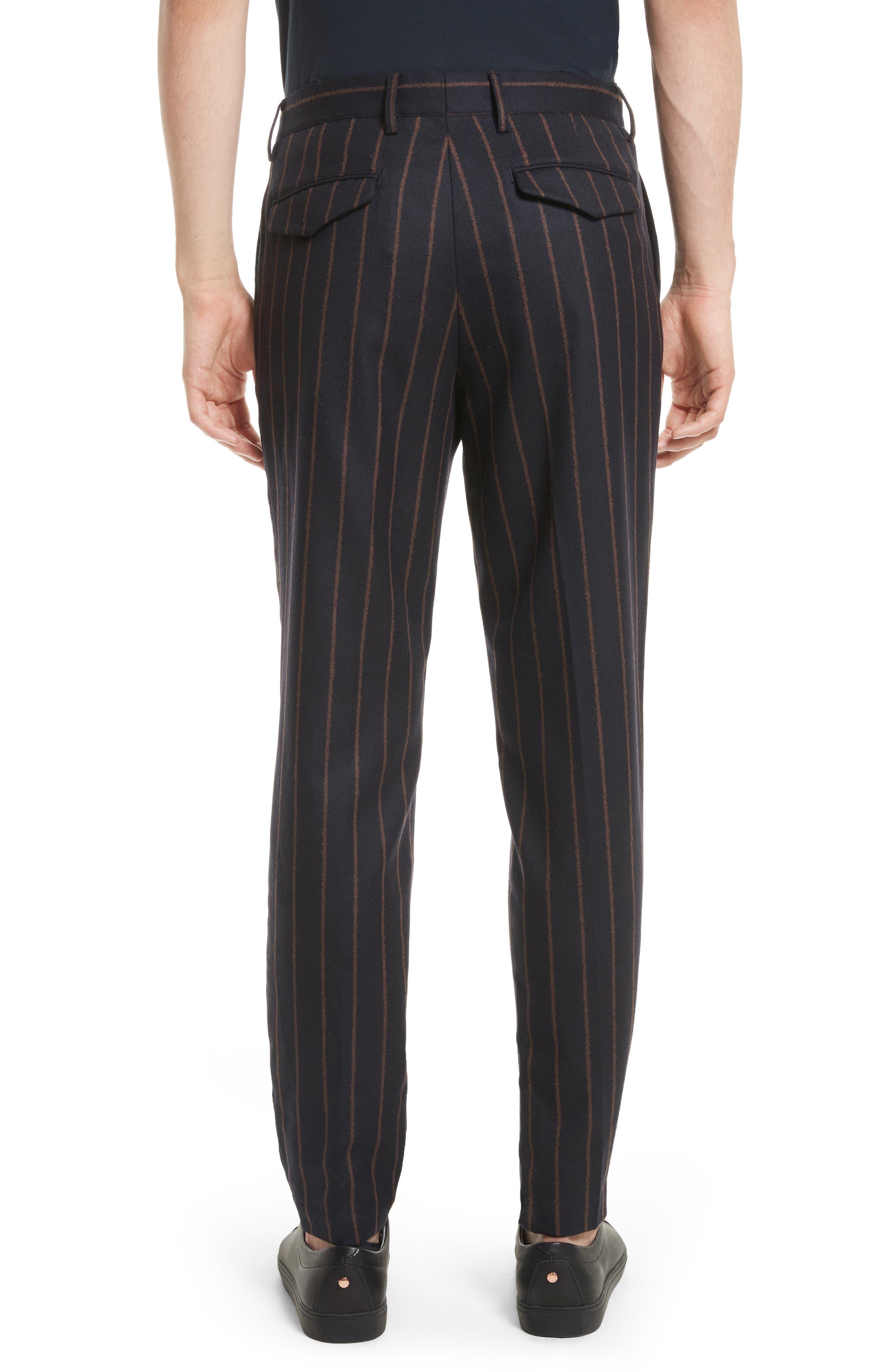 Bouclé Stripe Flannel Pants,                             Alternate thumbnail 2, color,                             400