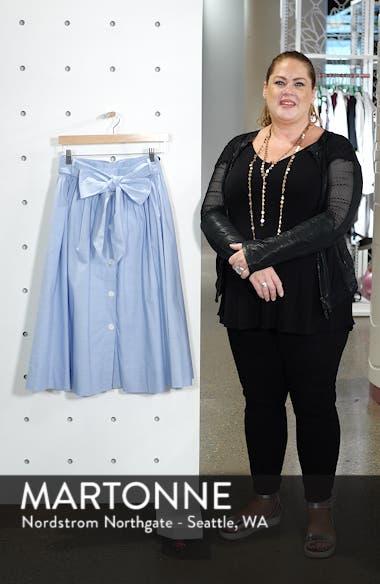 Bow Tie Chambray Skirt, sales video thumbnail