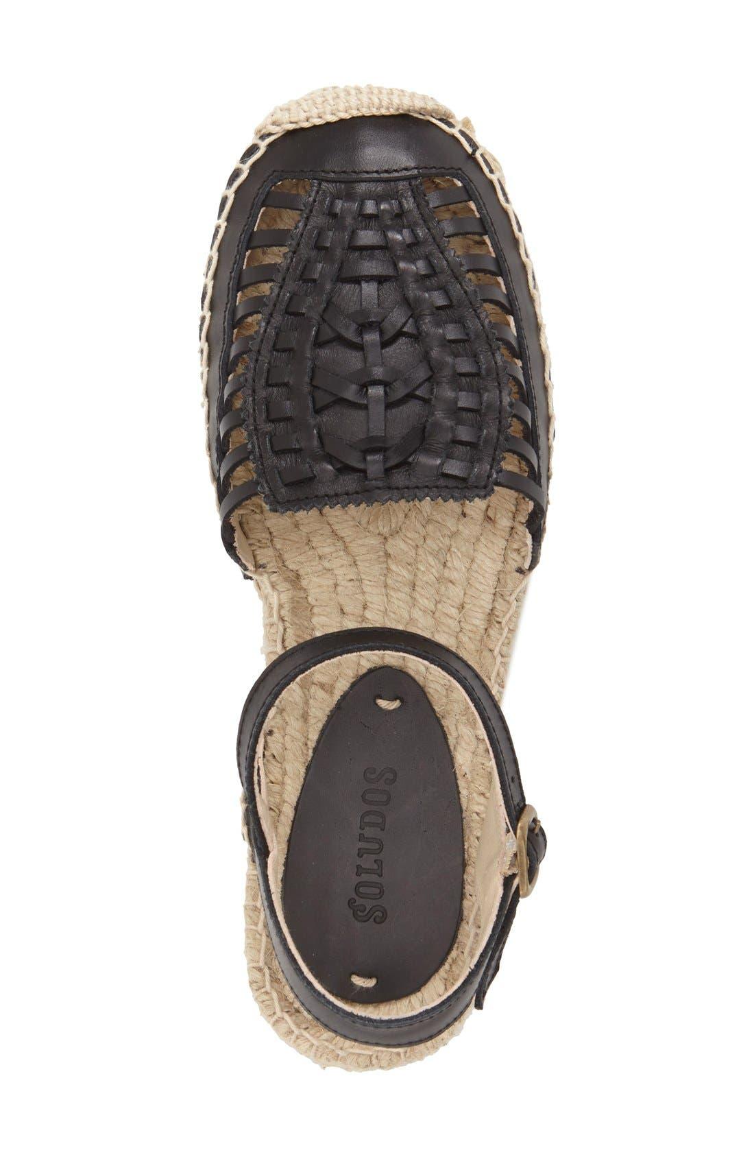 Huarache Platform Sandal,                             Alternate thumbnail 3, color,                             001