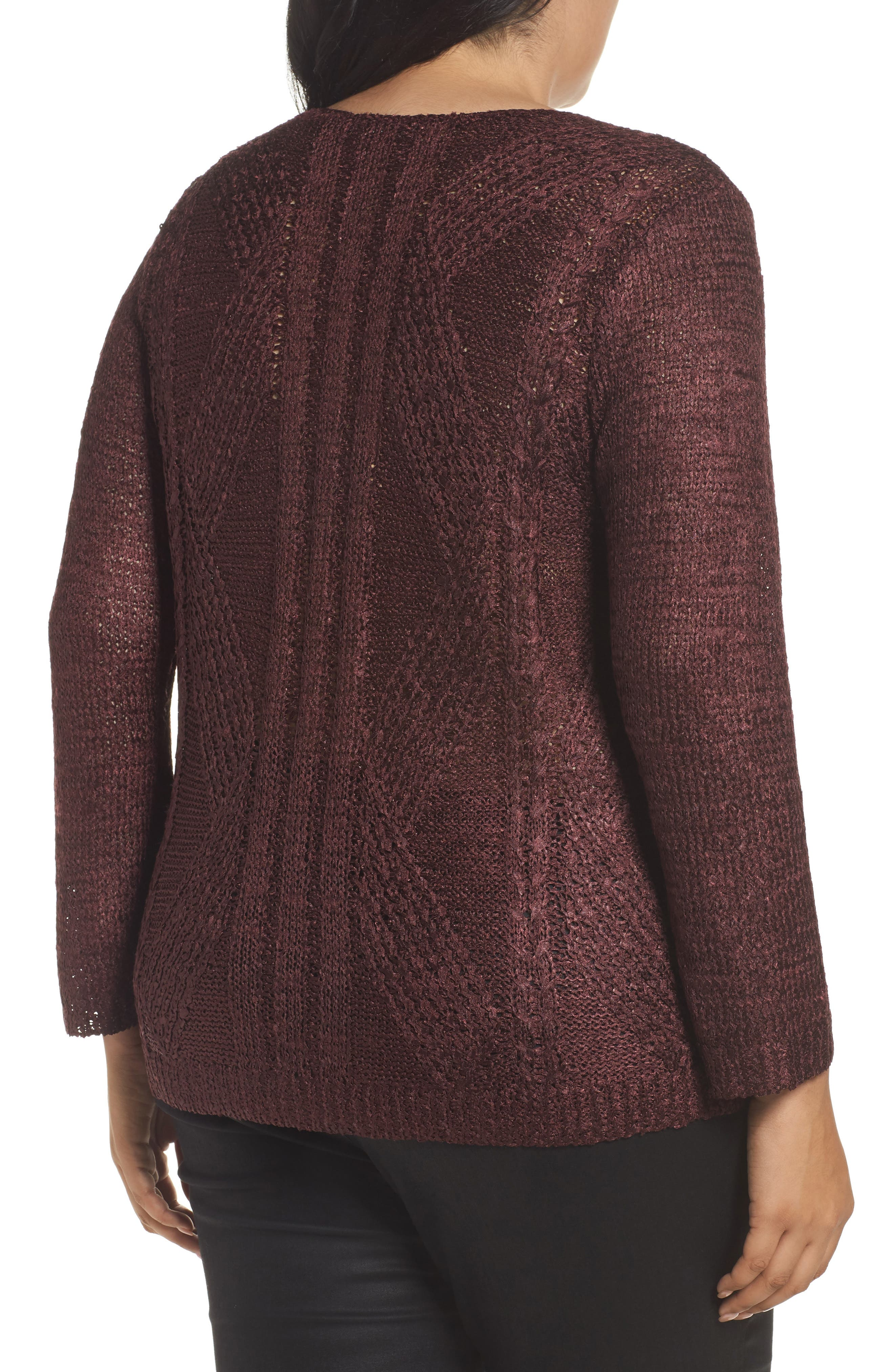Cable Wave Sweater,                             Alternate thumbnail 4, color,