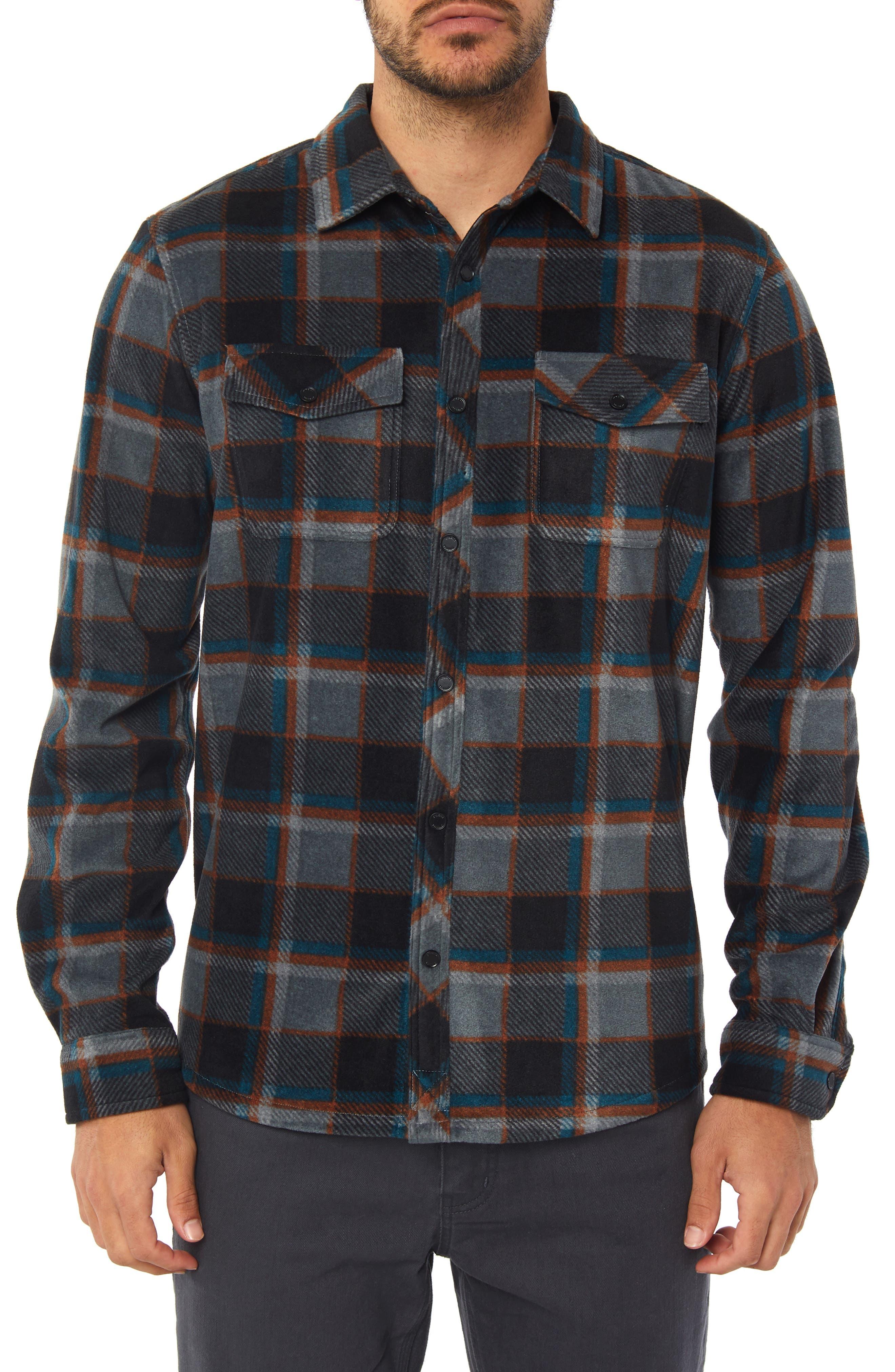 Glacier Crest Shirt,                         Main,                         color, ASPHALT