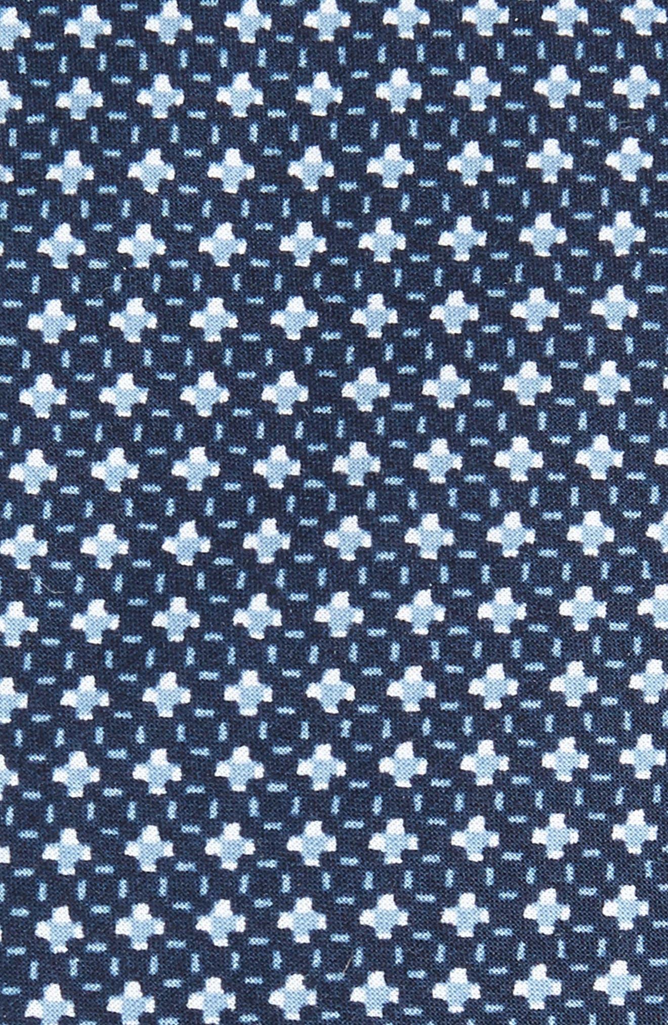 Olympos Geometric Cotton Tie,                             Alternate thumbnail 2, color,                             001