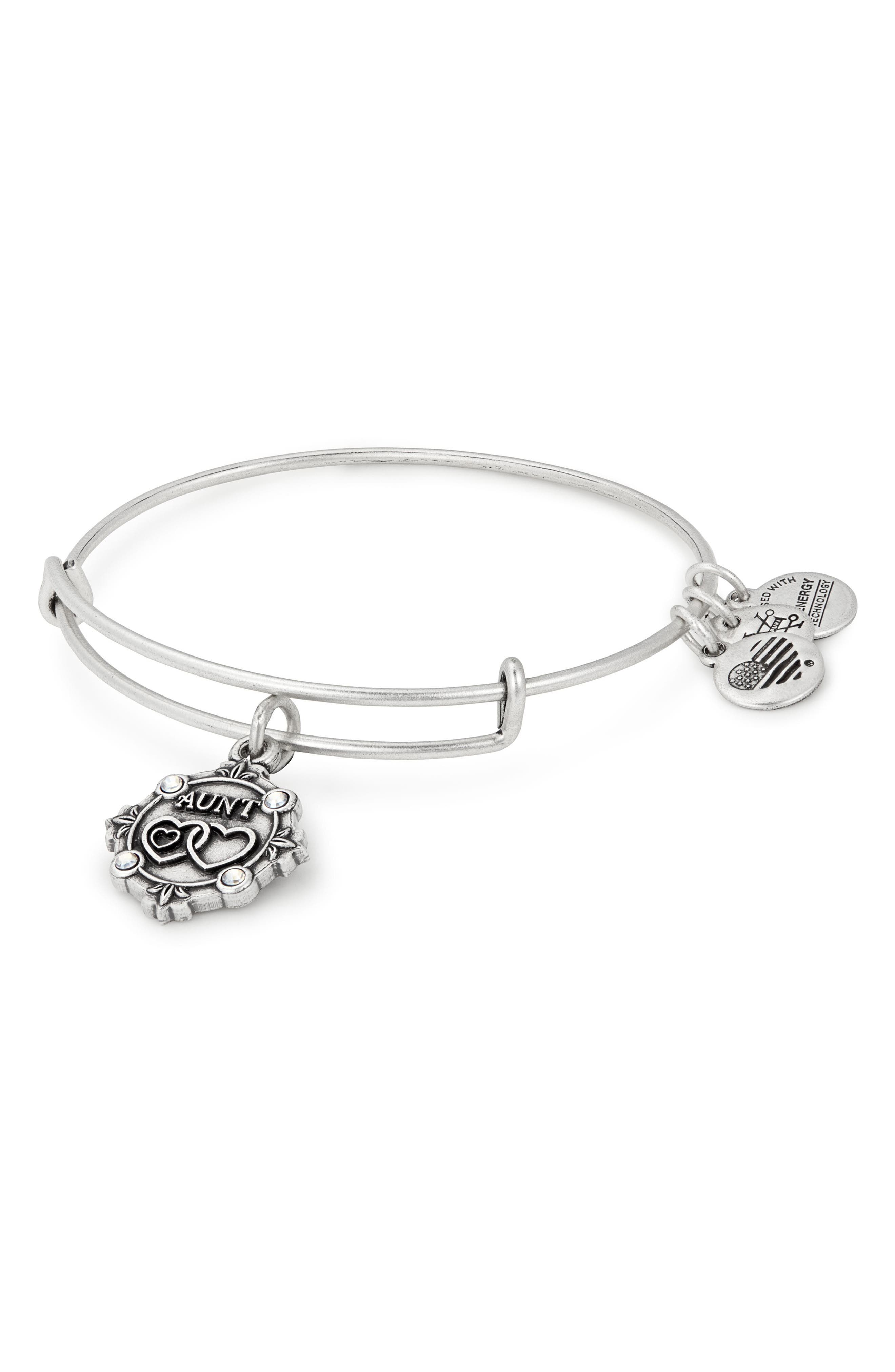 Because I Love You Aunt Charm Bangle,                             Main thumbnail 1, color,                             040