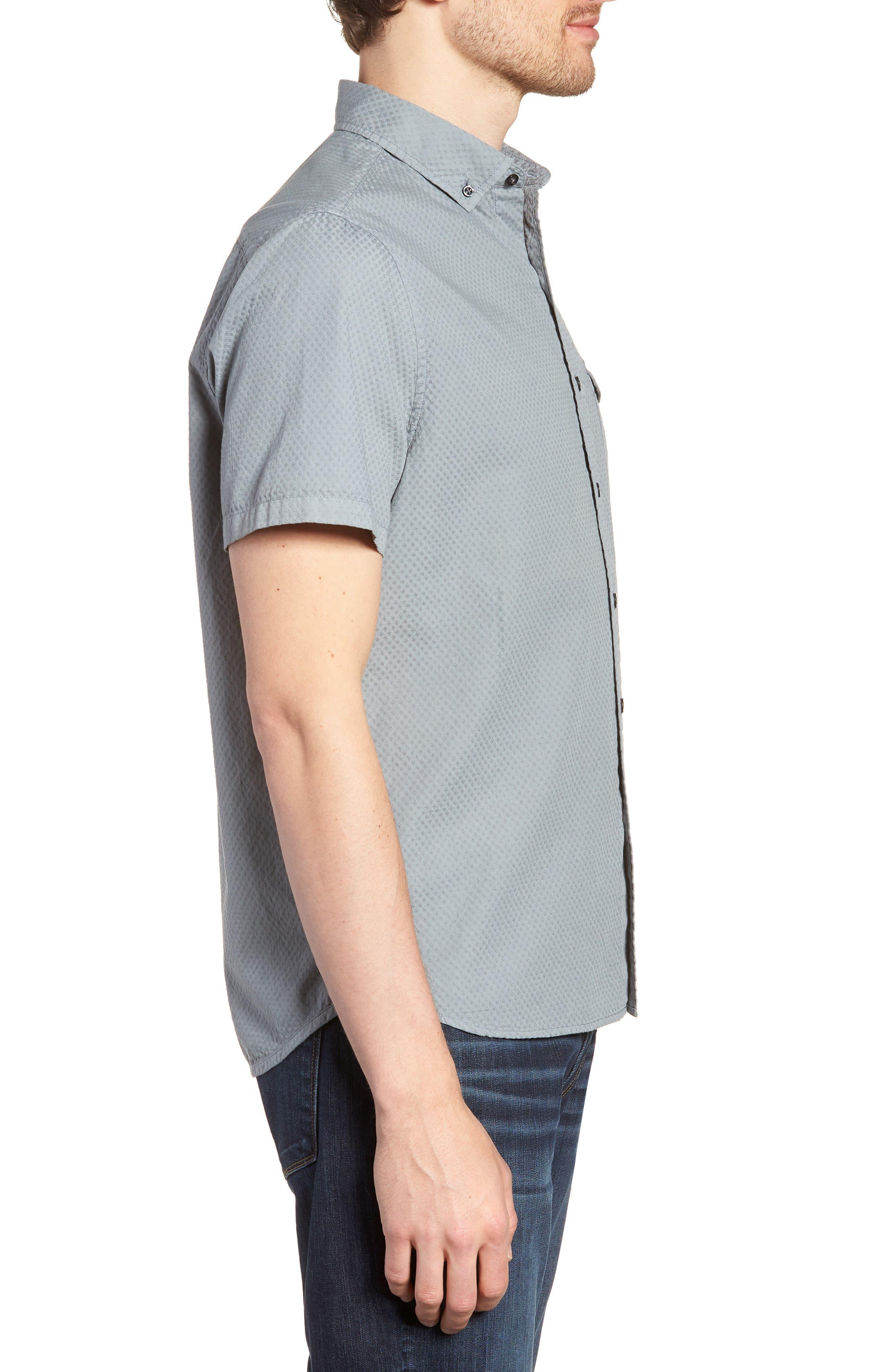 Slim Fit Garment Dyed Sport Shirt,                             Alternate thumbnail 3, color,                             039