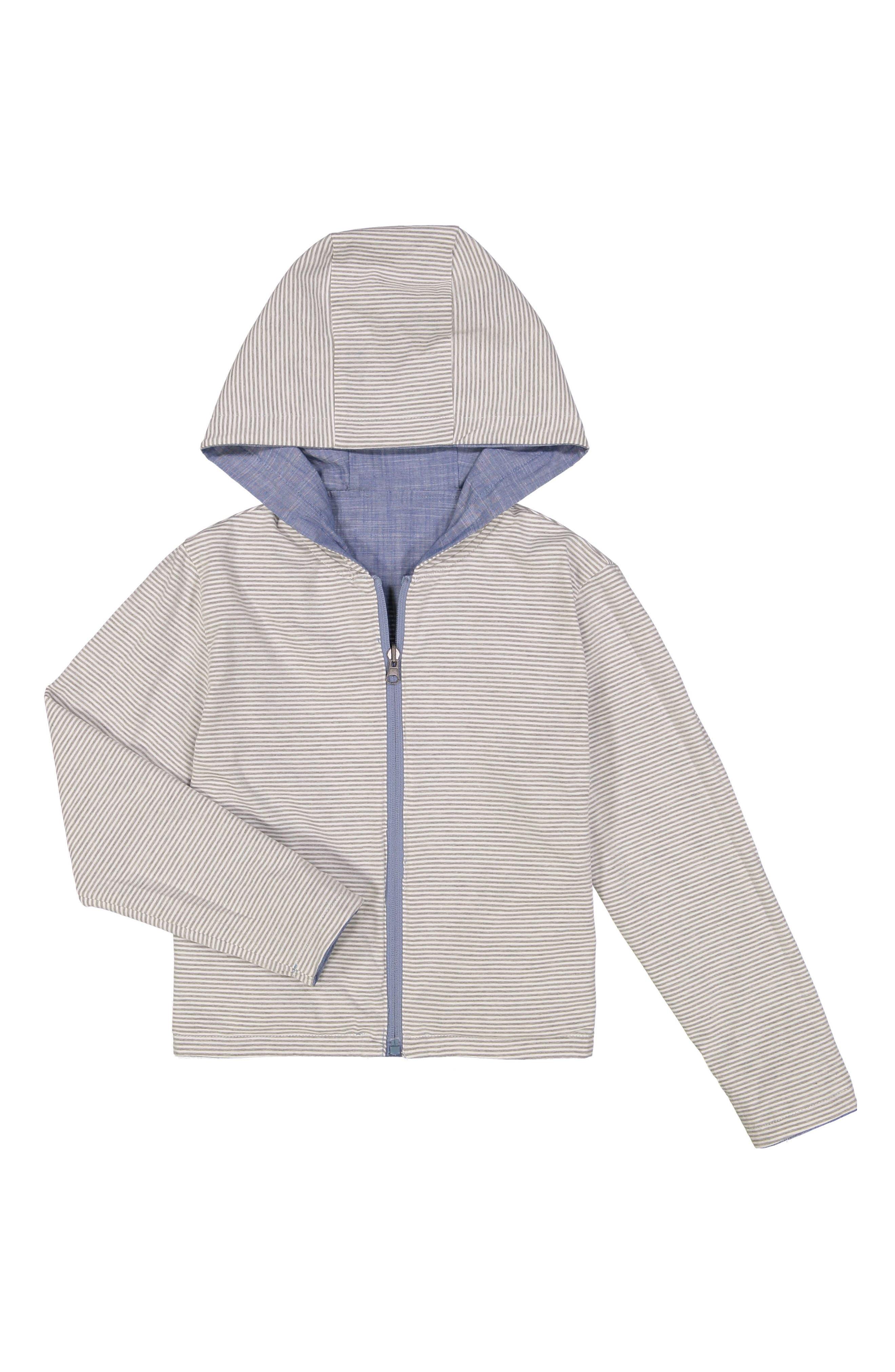 Water Resistant Reversible Hooded Jacket,                             Alternate thumbnail 2, color,                             424