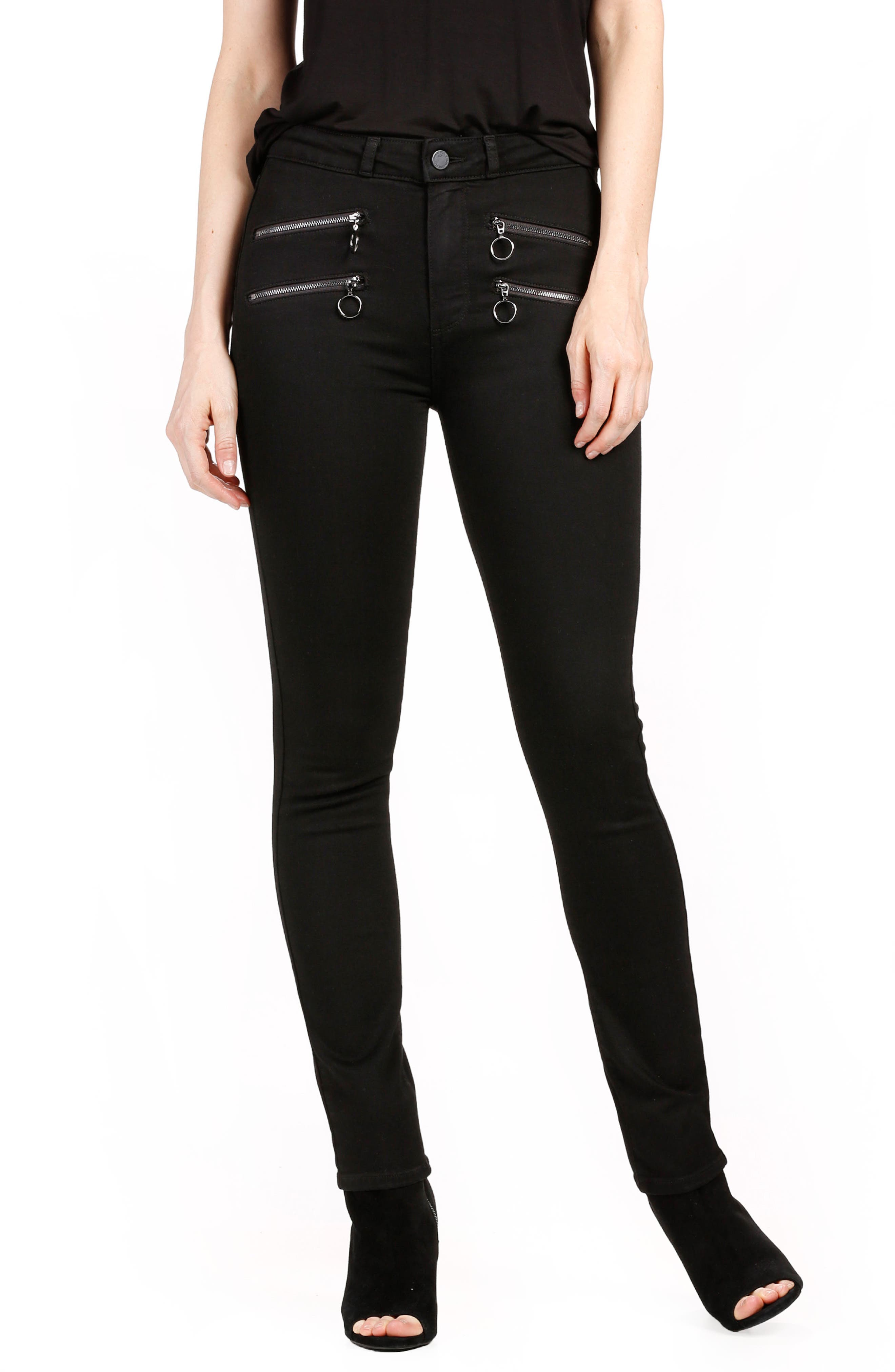 Transcend - Kylo High Waist Skinny Jeans,                         Main,                         color, 001