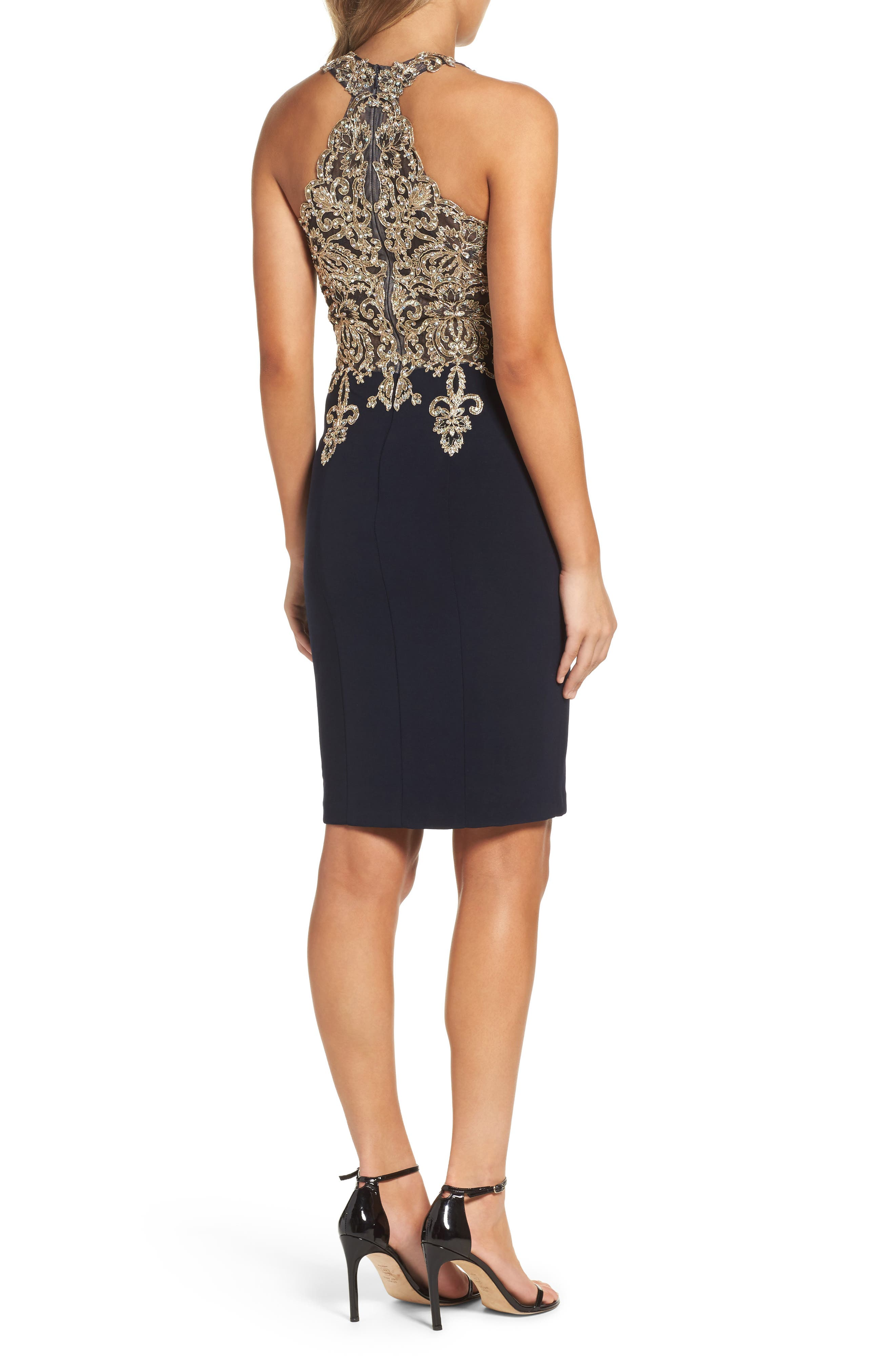 Embroidered Sheath Dress,                             Alternate thumbnail 2, color,                             409