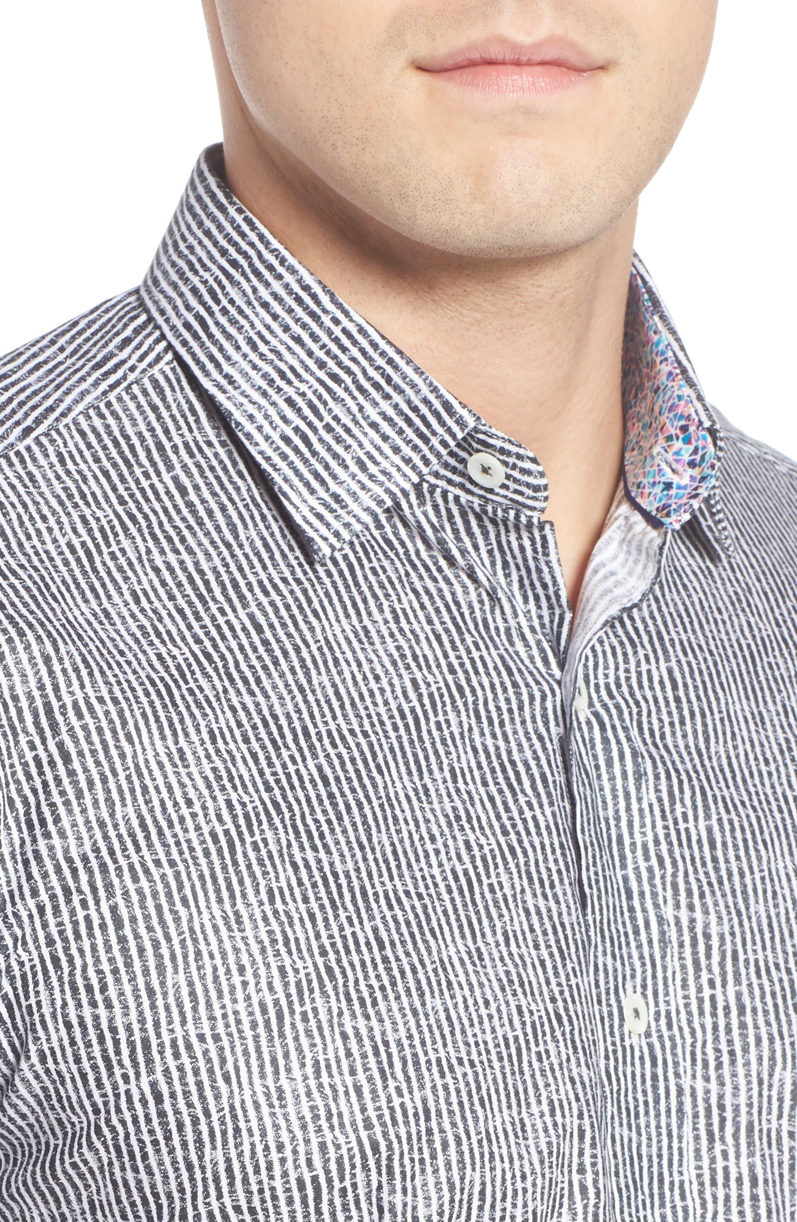 Shaped Fit Stripe Sport Shirt,                             Alternate thumbnail 26, color,