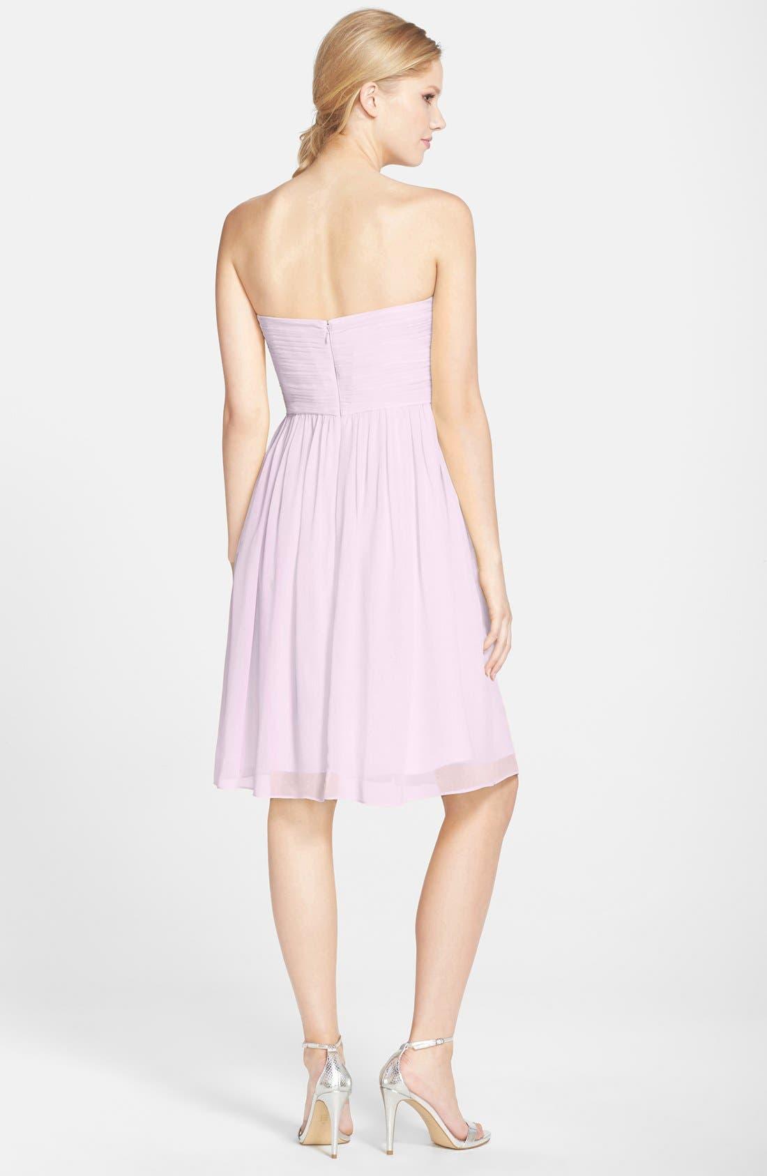 'Morgan' Strapless Silk Chiffon Dress,                             Alternate thumbnail 69, color,