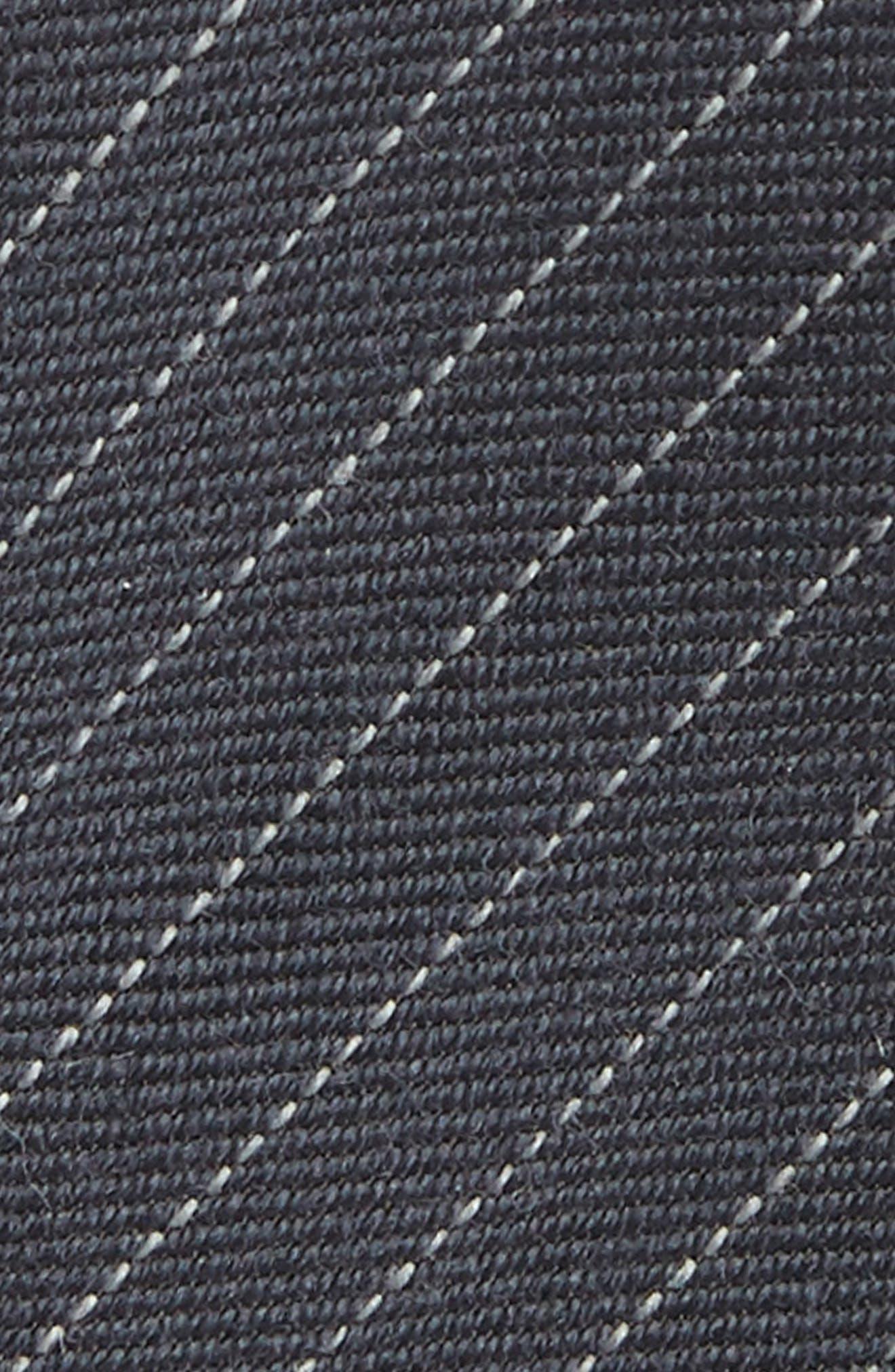 Stripe Wool & Silk Tie,                             Alternate thumbnail 2, color,                             PEARL GREY